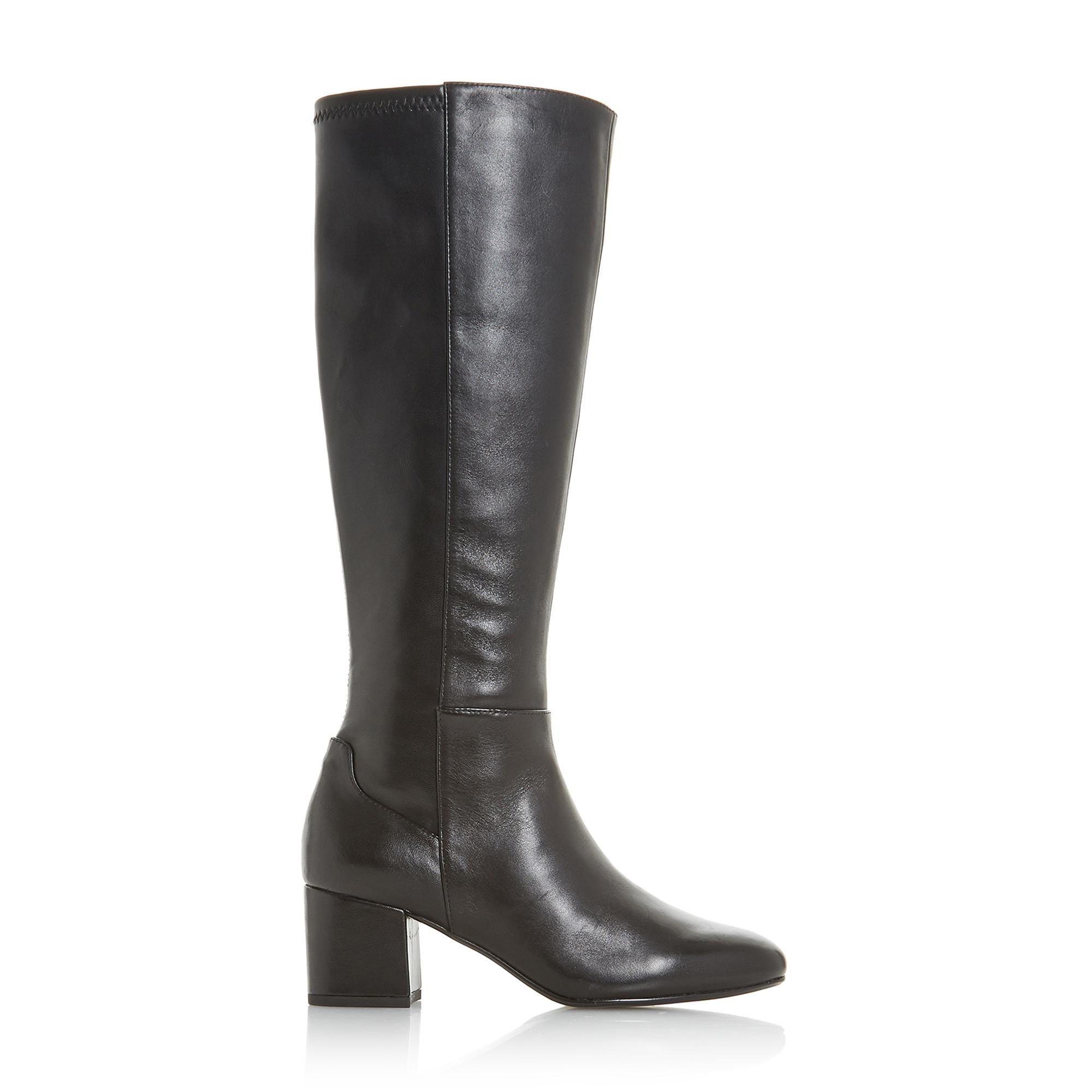 Dune Ladies SALZA Side Zip Knee High Boots