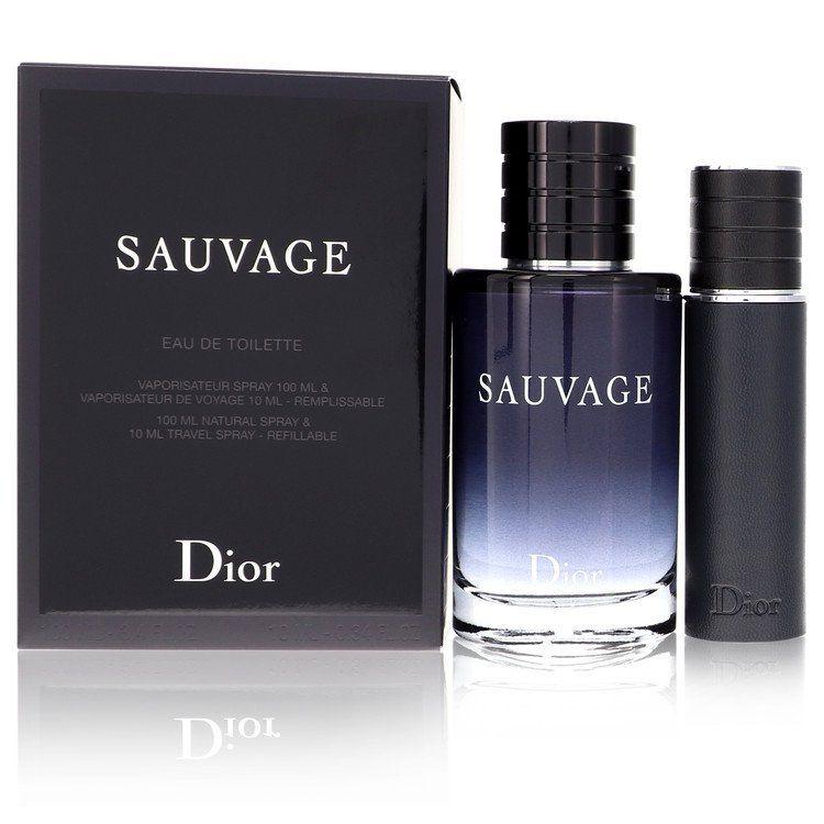 Sauvage Gift Set By Christian Dior 3.4 oz Eau De Toilette Spray + .33 oz EDT Spray Refillableml