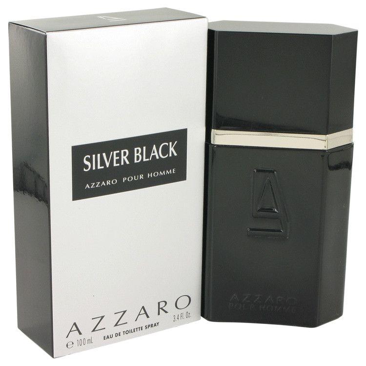 Silver Black Eau De Toilette Spray By Azzaro 100 ml