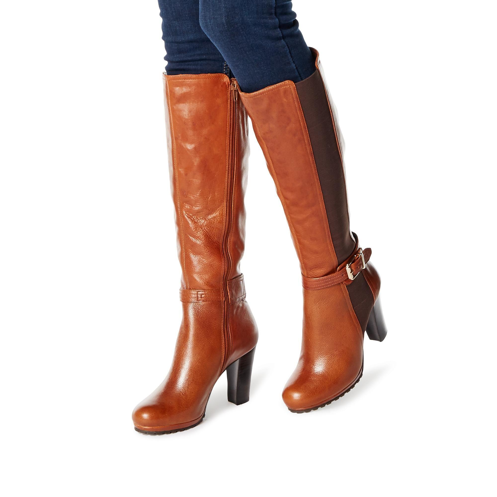 Dune Ladies SEBB Stretch Panel Knee High Boots