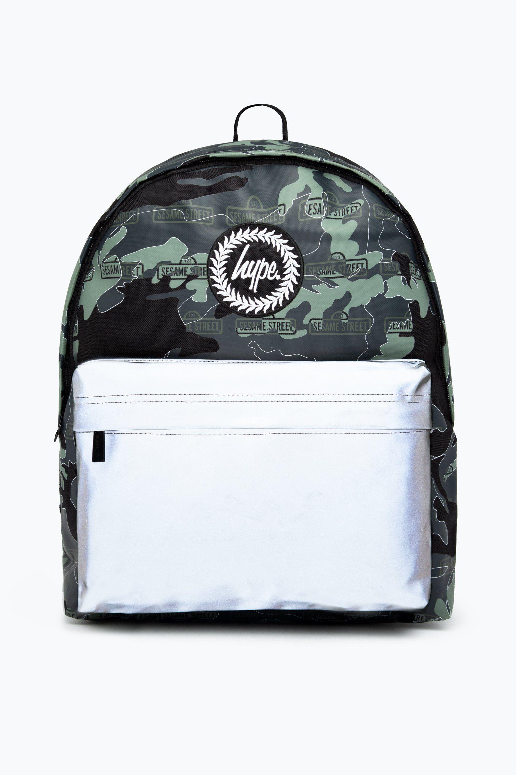 Hype X Sesame Street Grey Logo Camo Backpack