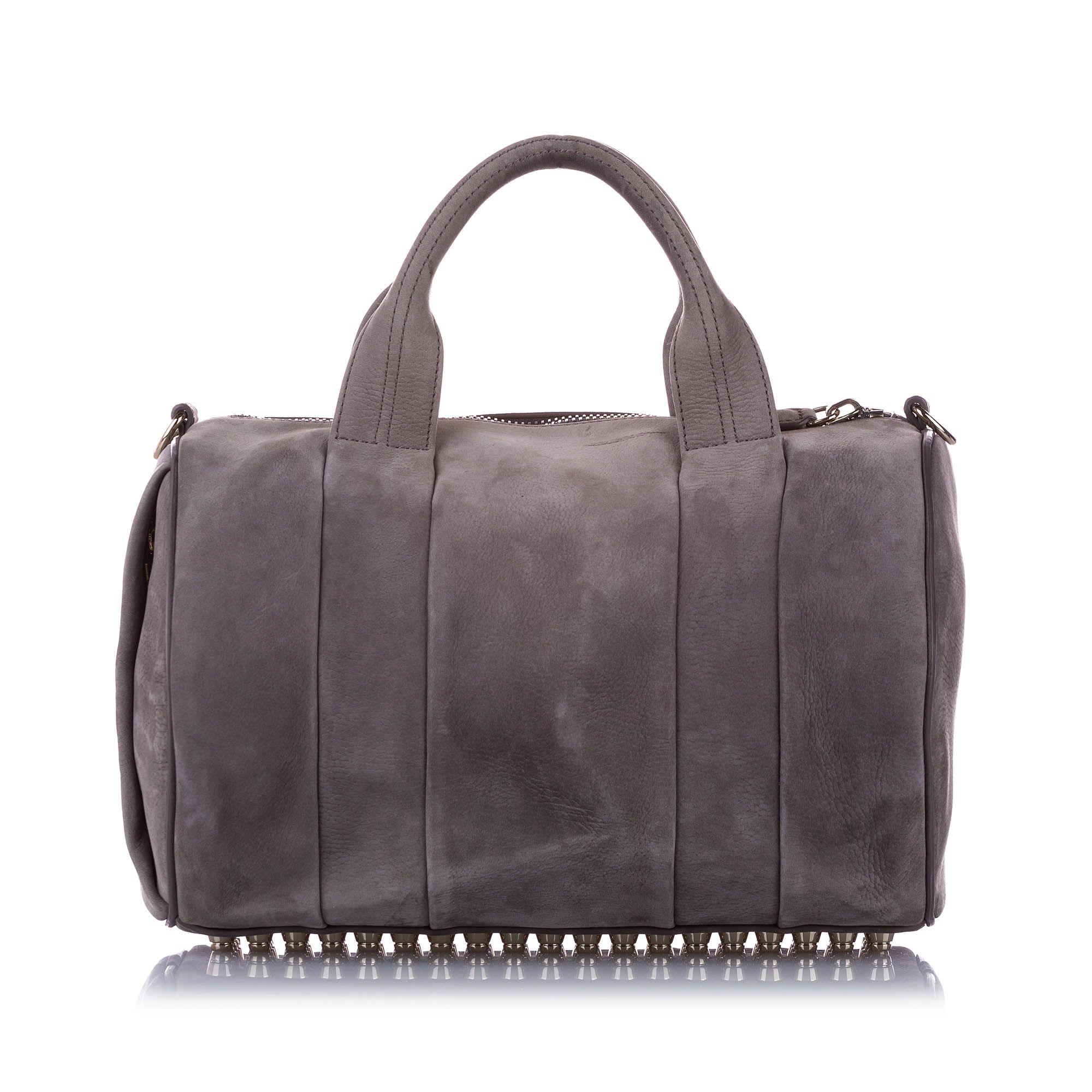 Vintage Alexander Wang Rockie Leather Satchel Gray