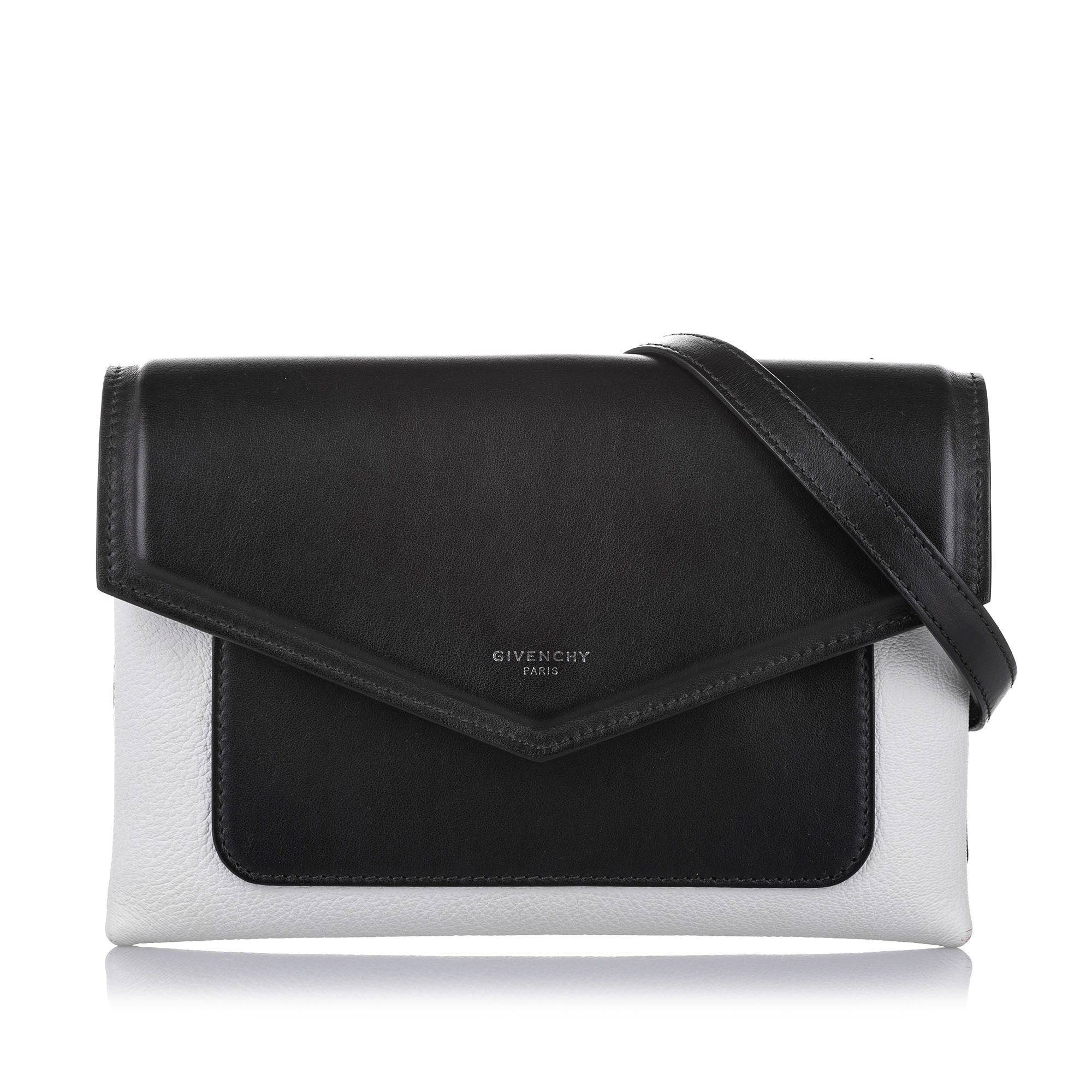 Vintage Givenchy Duetto Leather Crossbody Bag Black