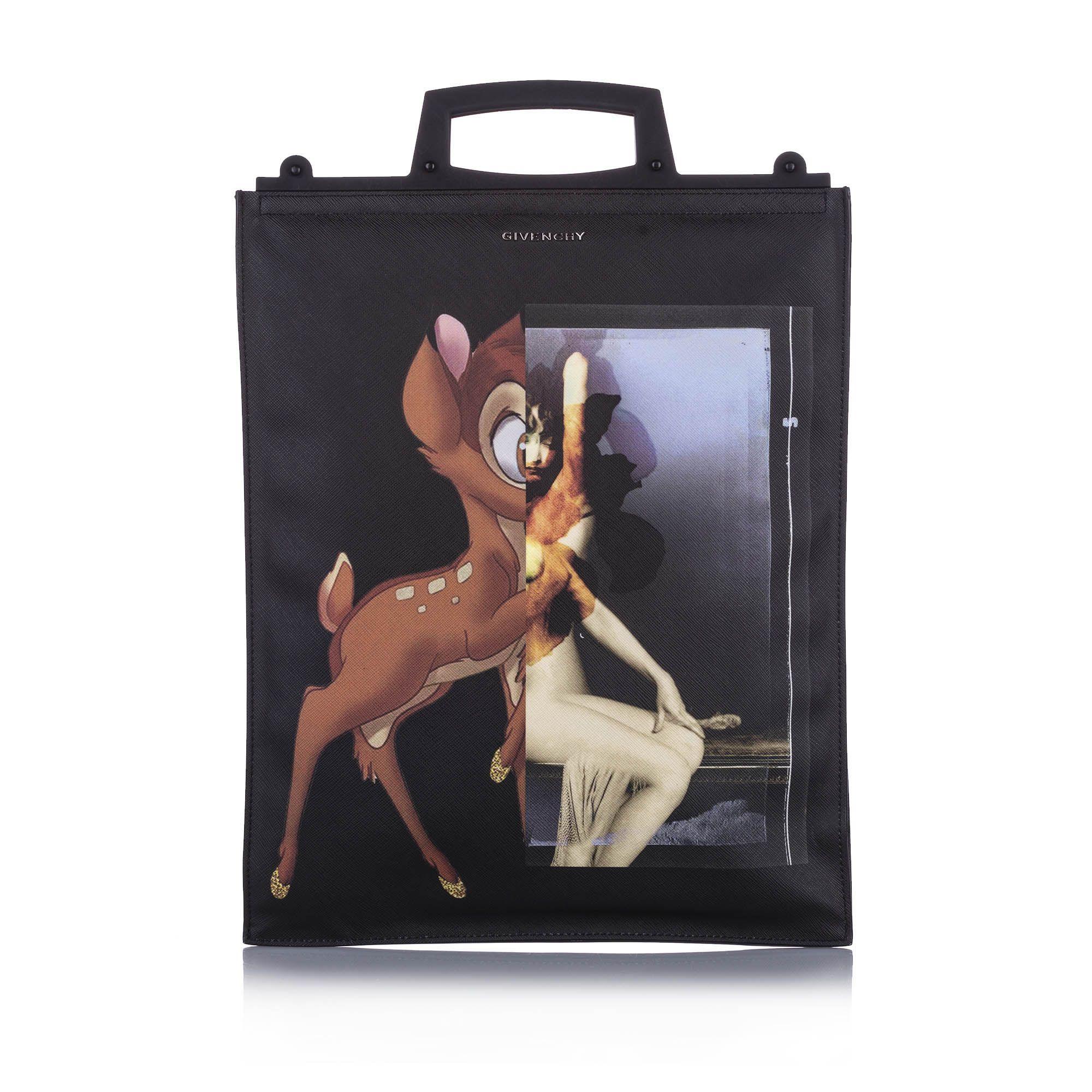 Vintage Givenchy Medium Rave Bambi Tote Black