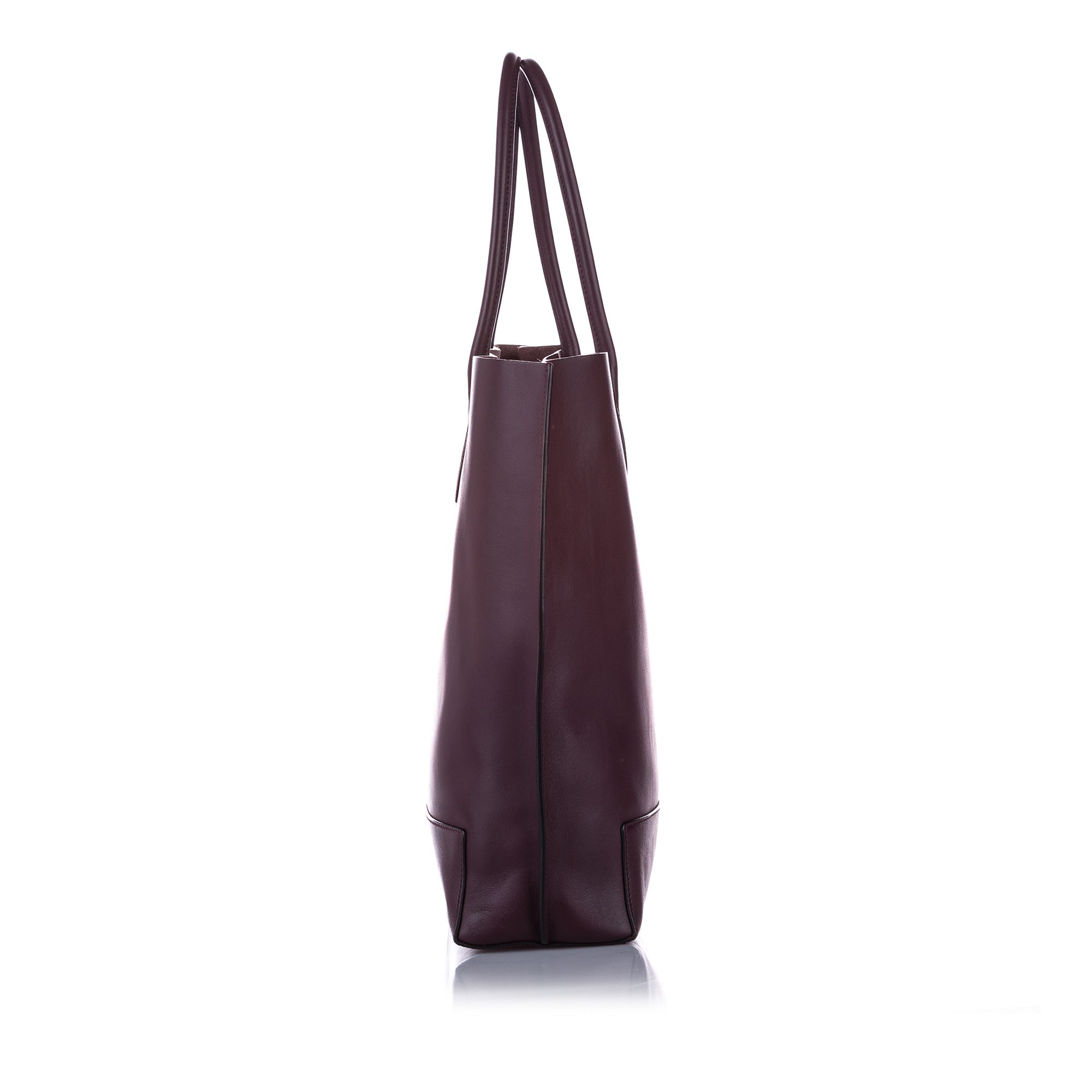 Vintage Mulberry Leather Tote Bag Red