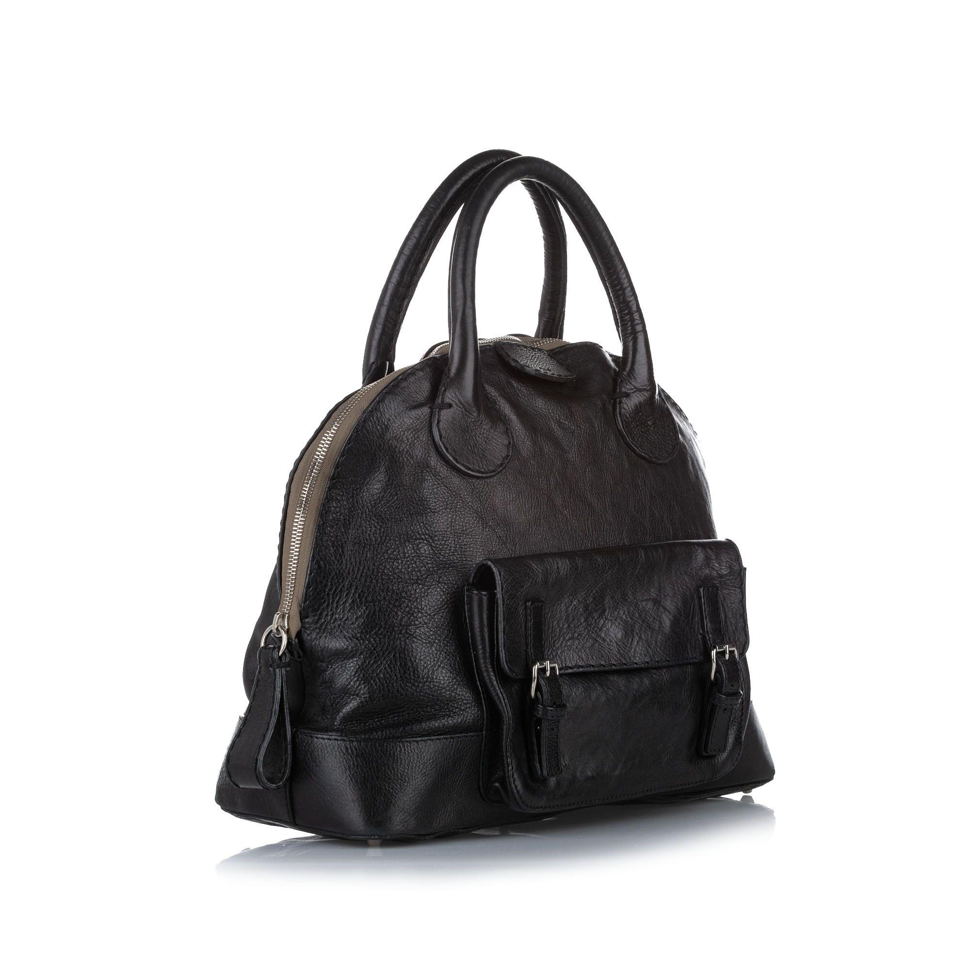 Vintage Chloe Edith Dome Bowler Bag Black