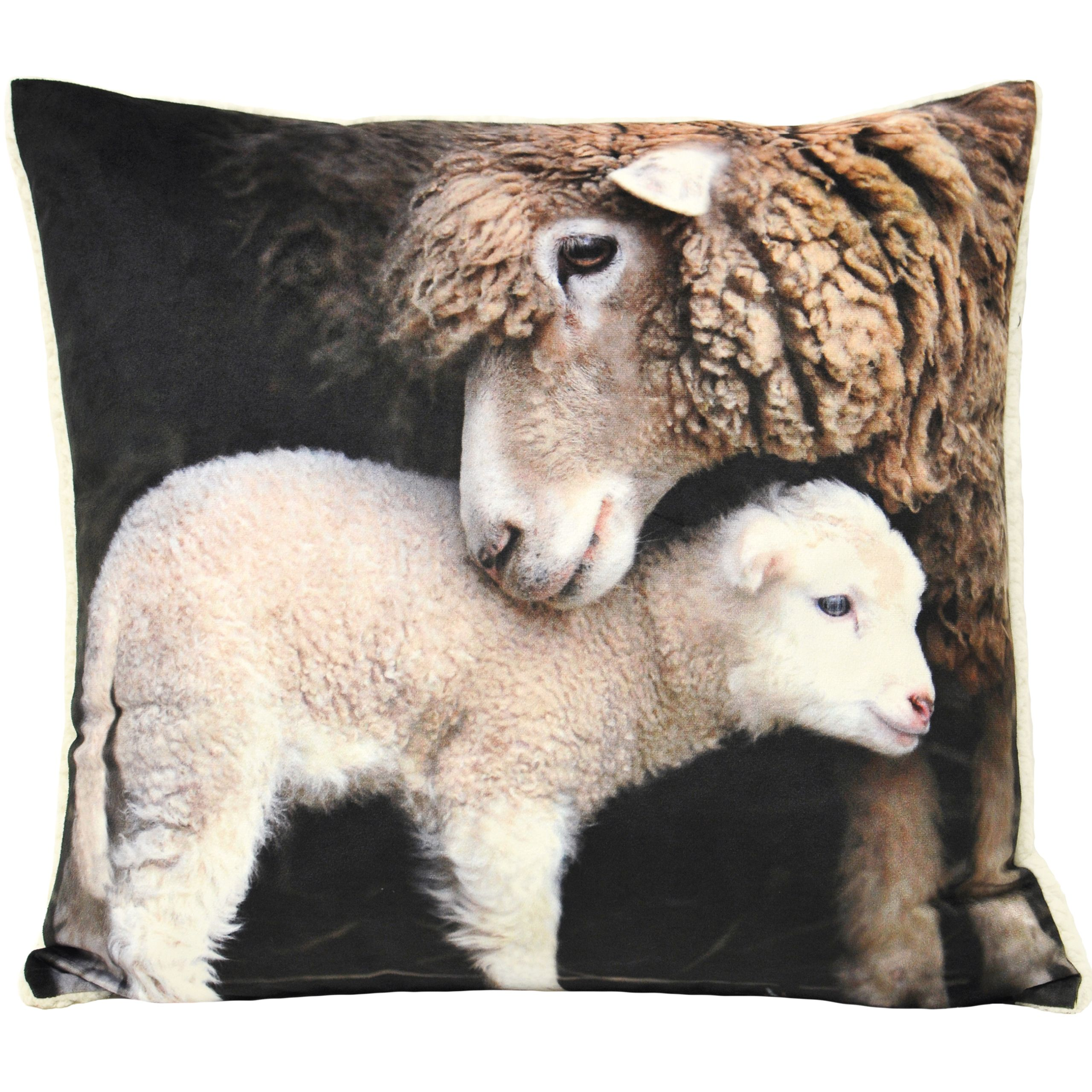 Sherpa Polyester Filled Cushion