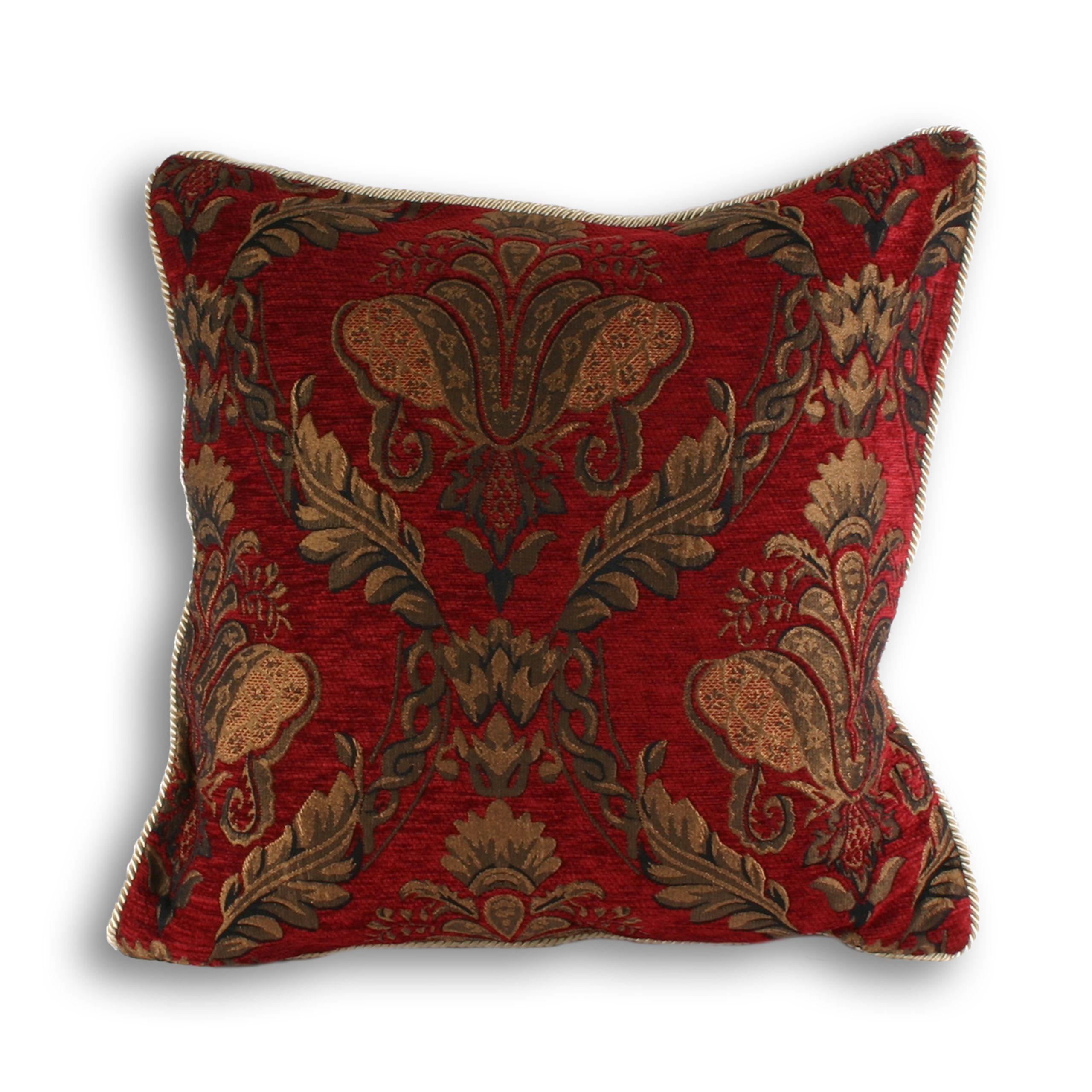 Shiraz Poly Cushion 58X58 Burg