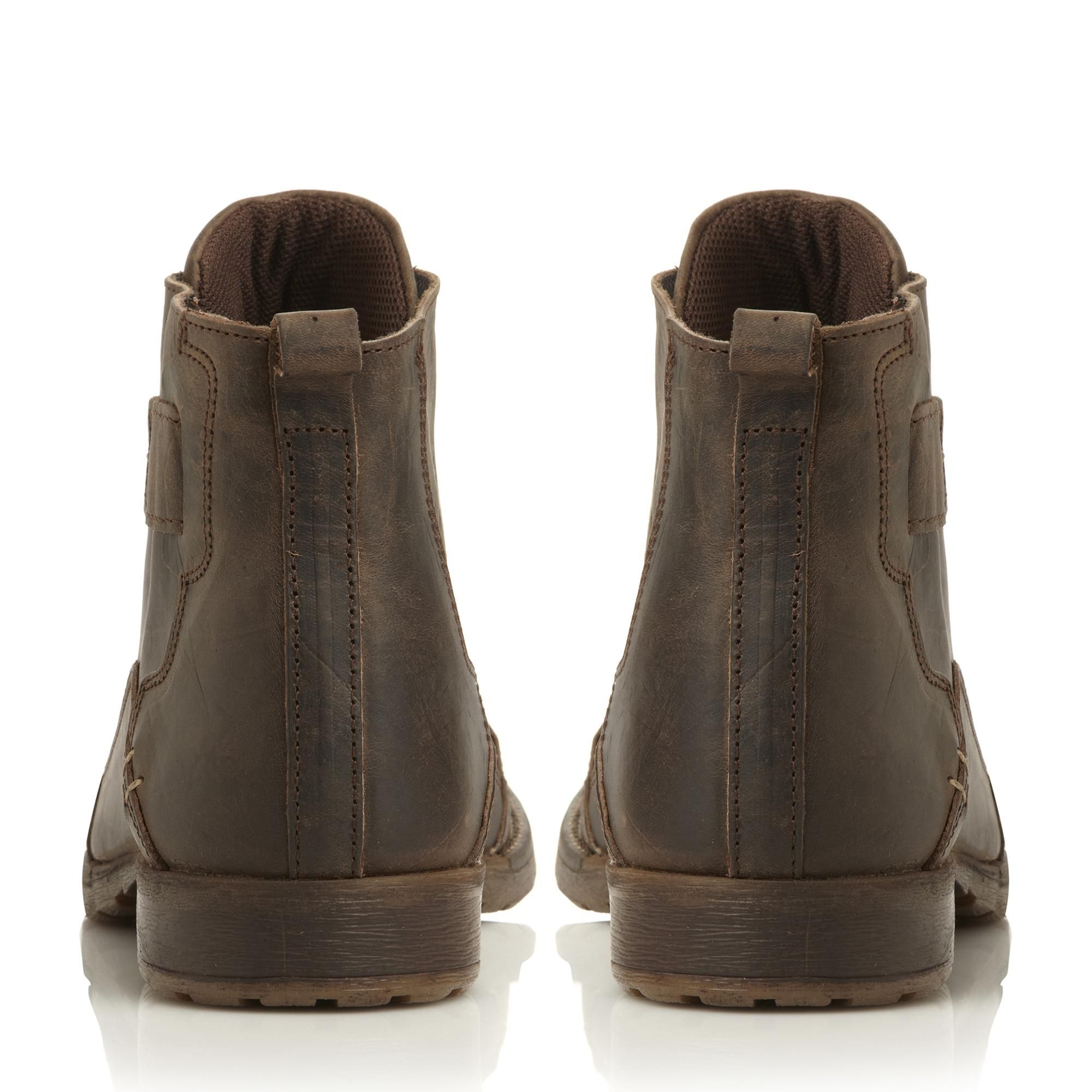 Dune Mens SIMON Heavy Duty Leather Ankle Boots
