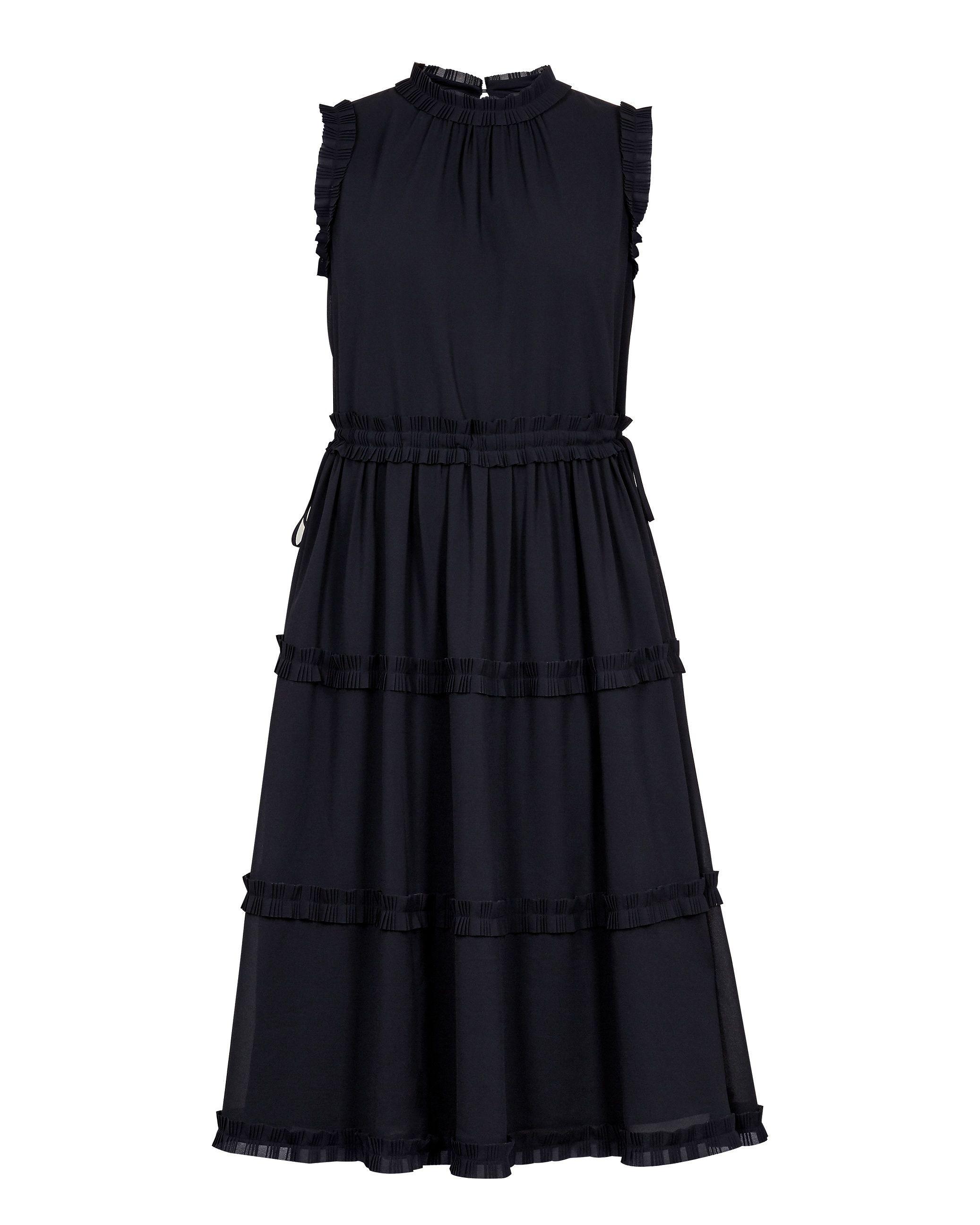 Ted Baker Sinita Tie Waist Midi Dress in Navy