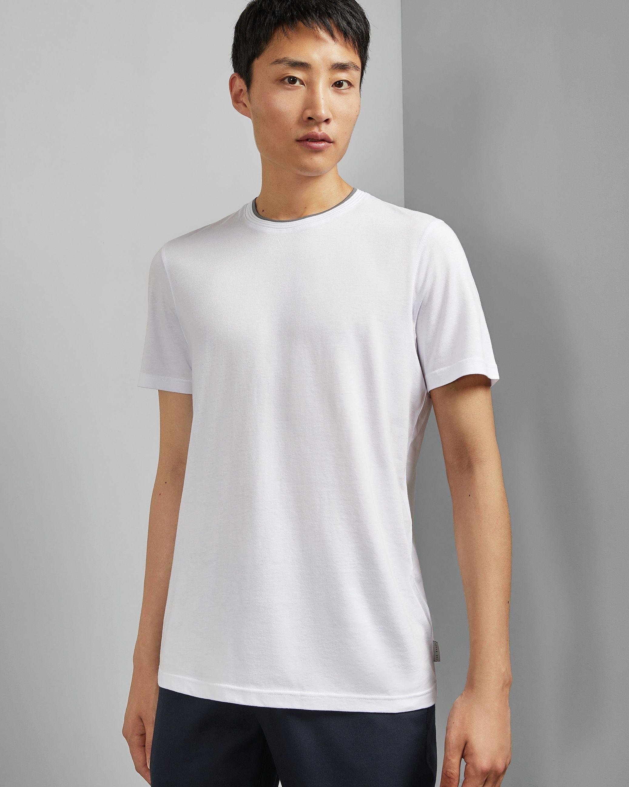 Ted Baker Sink Short-Sleeved Crew Neck T-Shirt, White