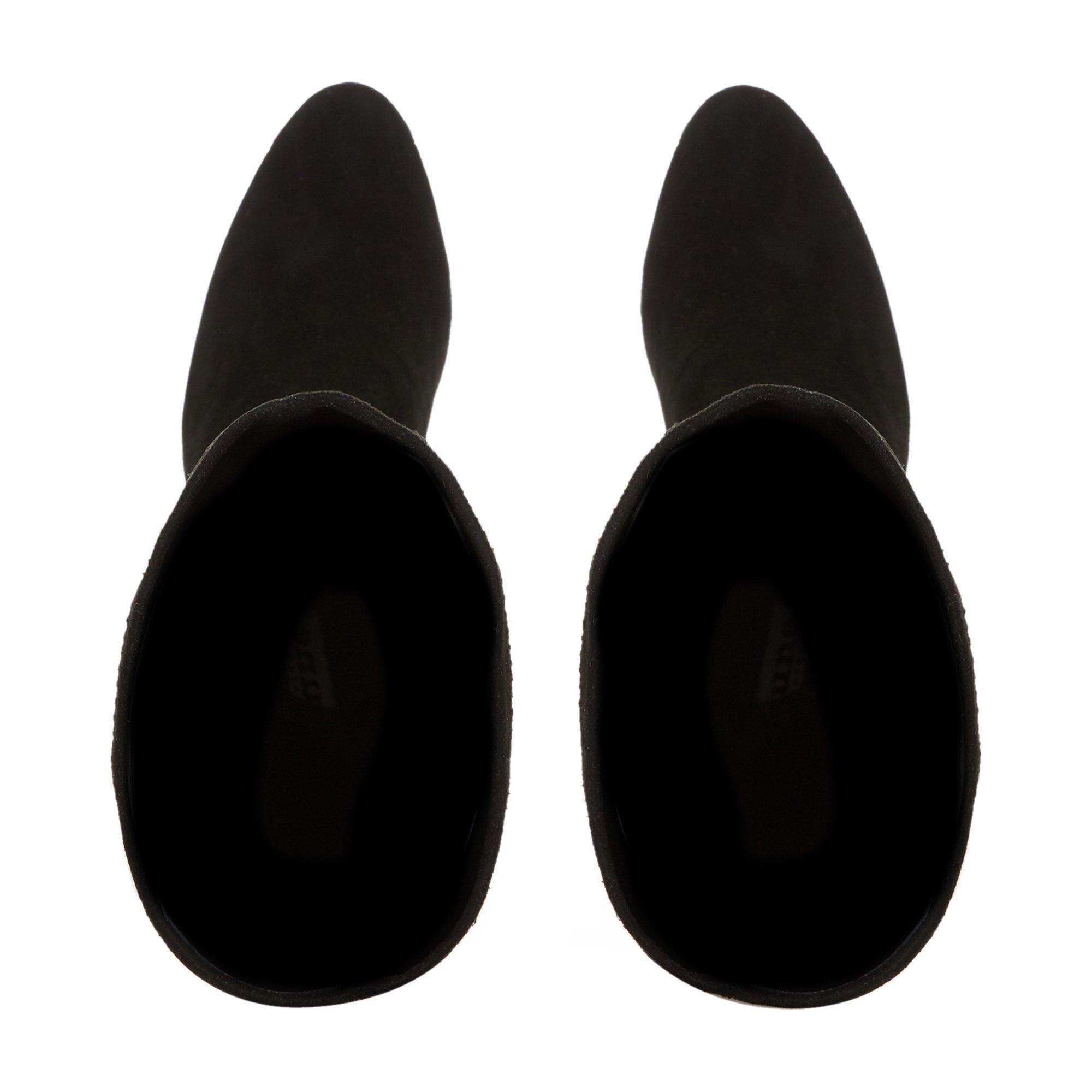Dune Ladies SIREN Stretch Block Heel Almond Toe Boots