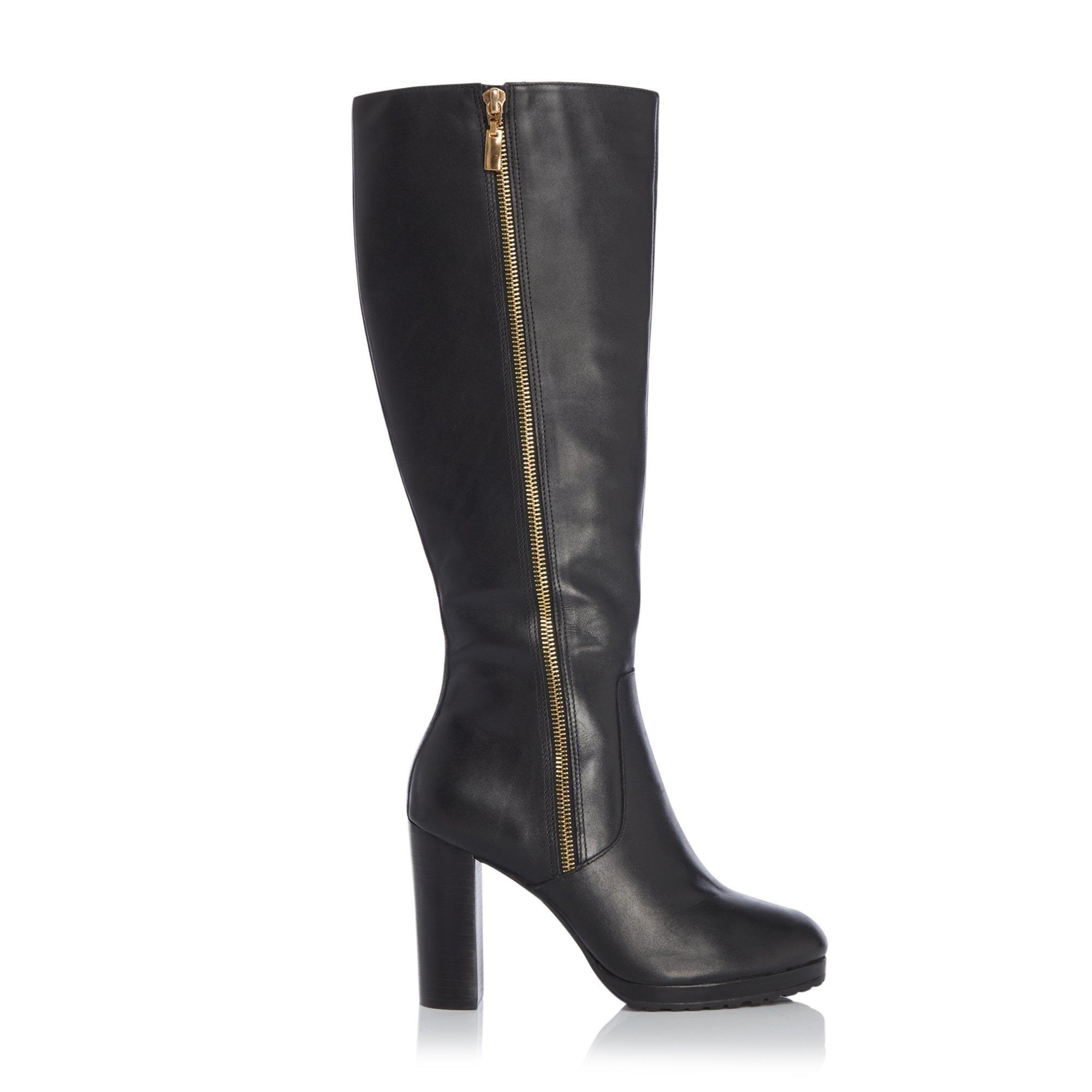 Dune Ladies SKY Side Zip Knee High Platform Boots