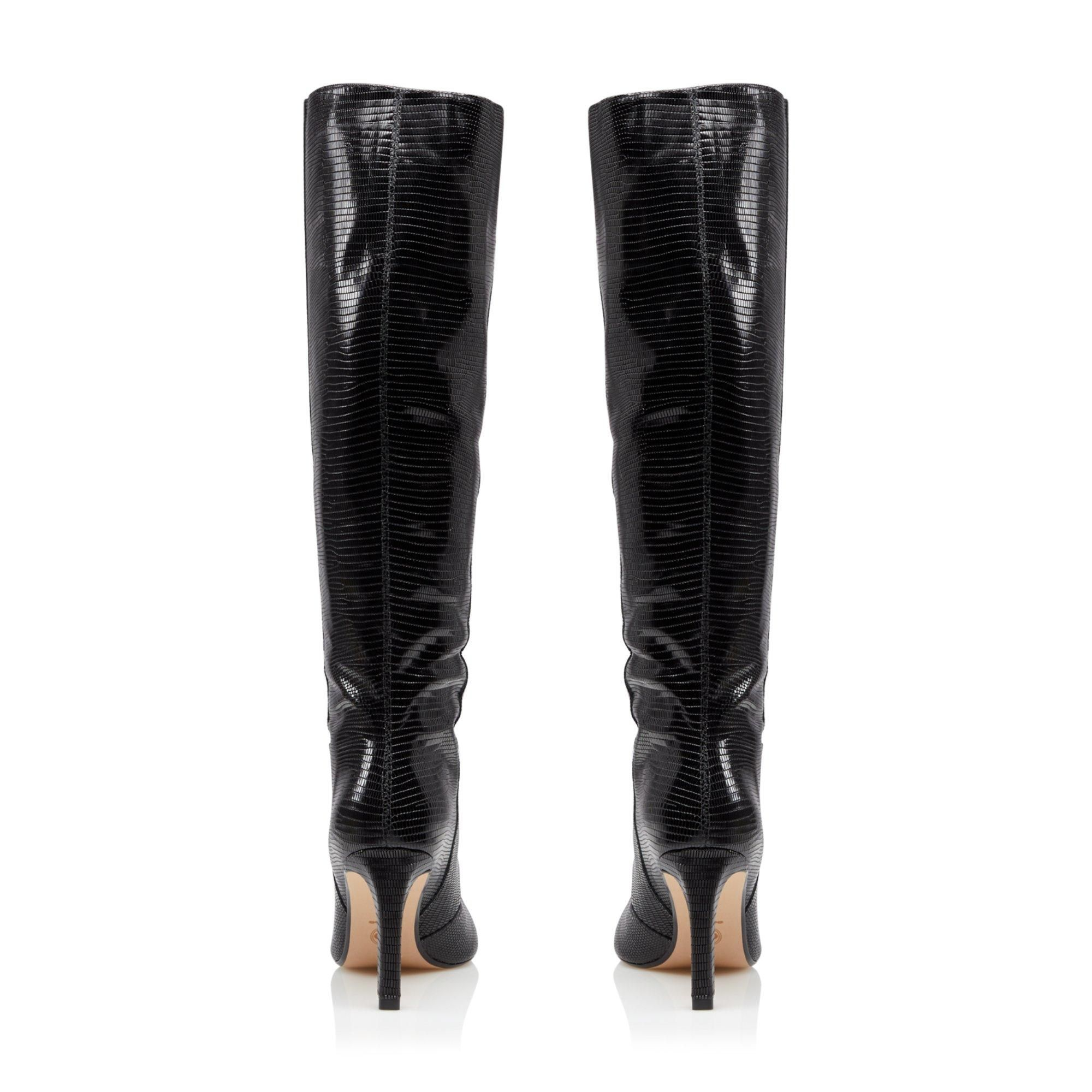 Dune Ladies SPICE Pointed Stiletto Knee High Heeled Boots