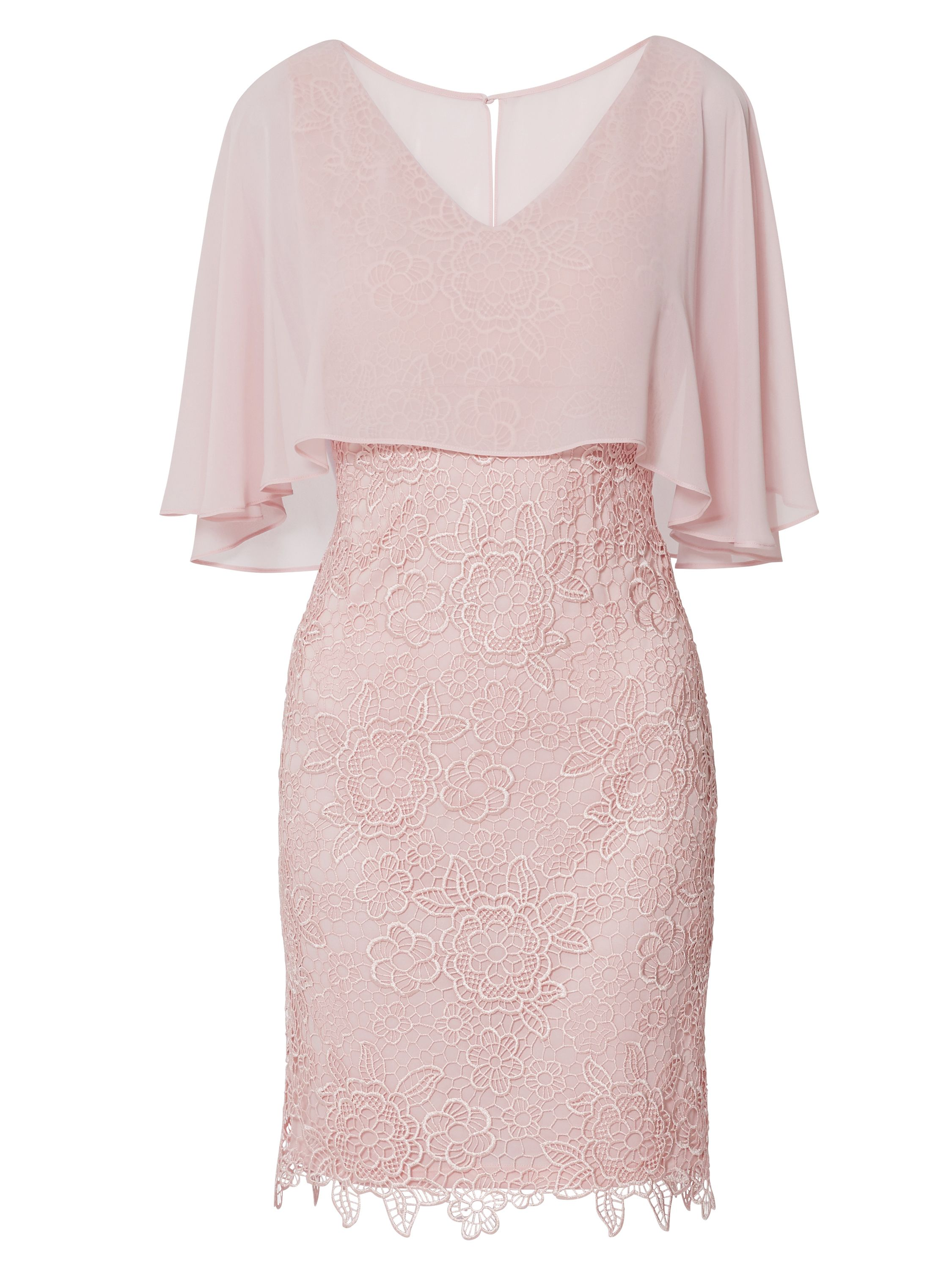 Jonina Embroidered Dress With Cape