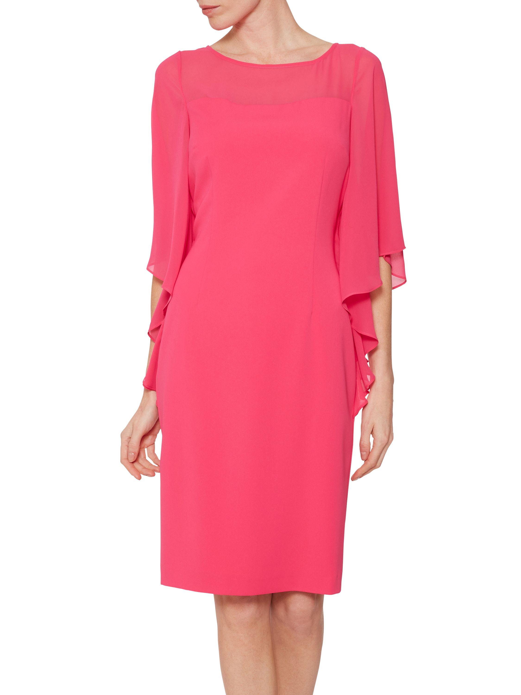 Nilani Moss Crepe And Chiffon Dress