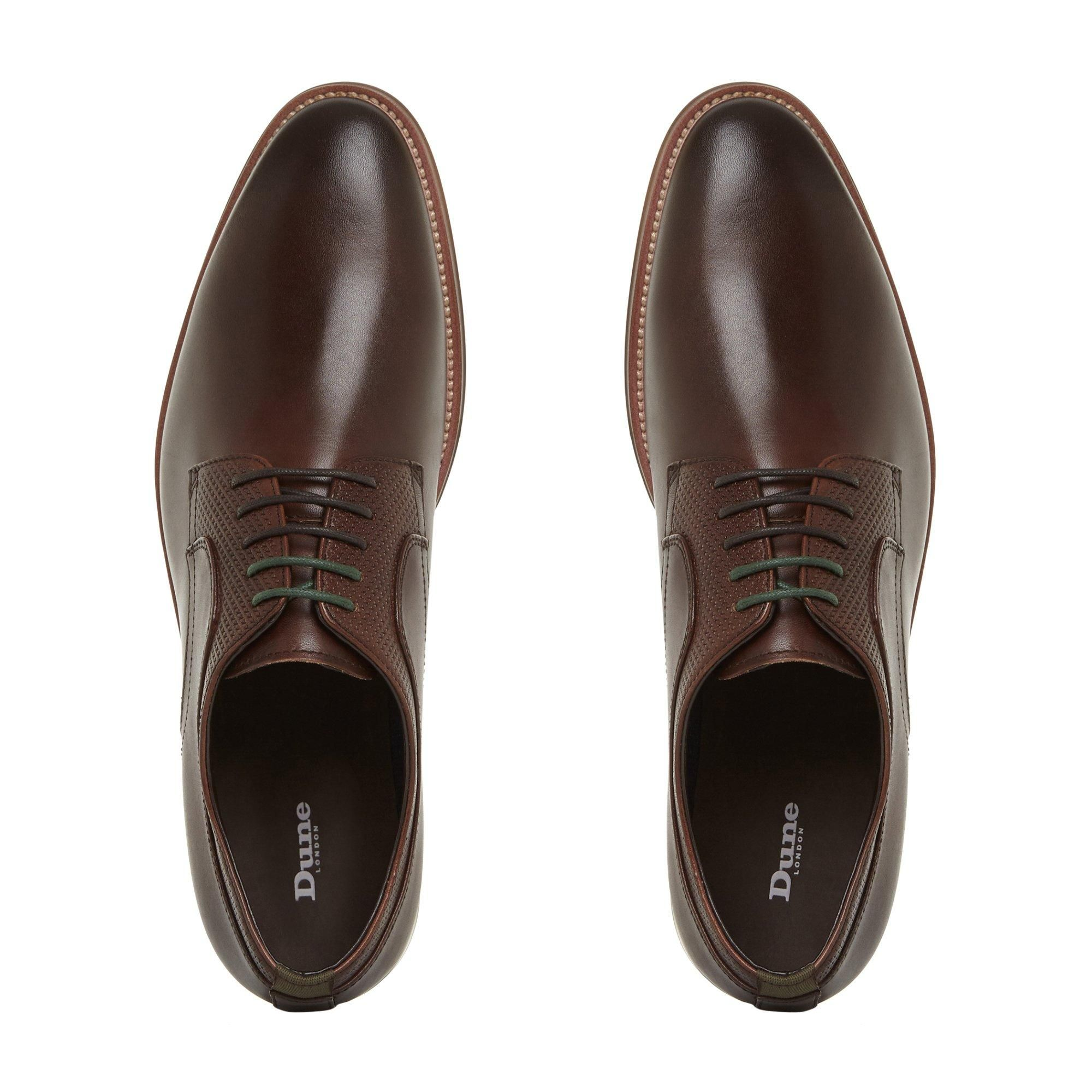 Dune Mens STAFFORD Perforated Detail Lace Up Shoes