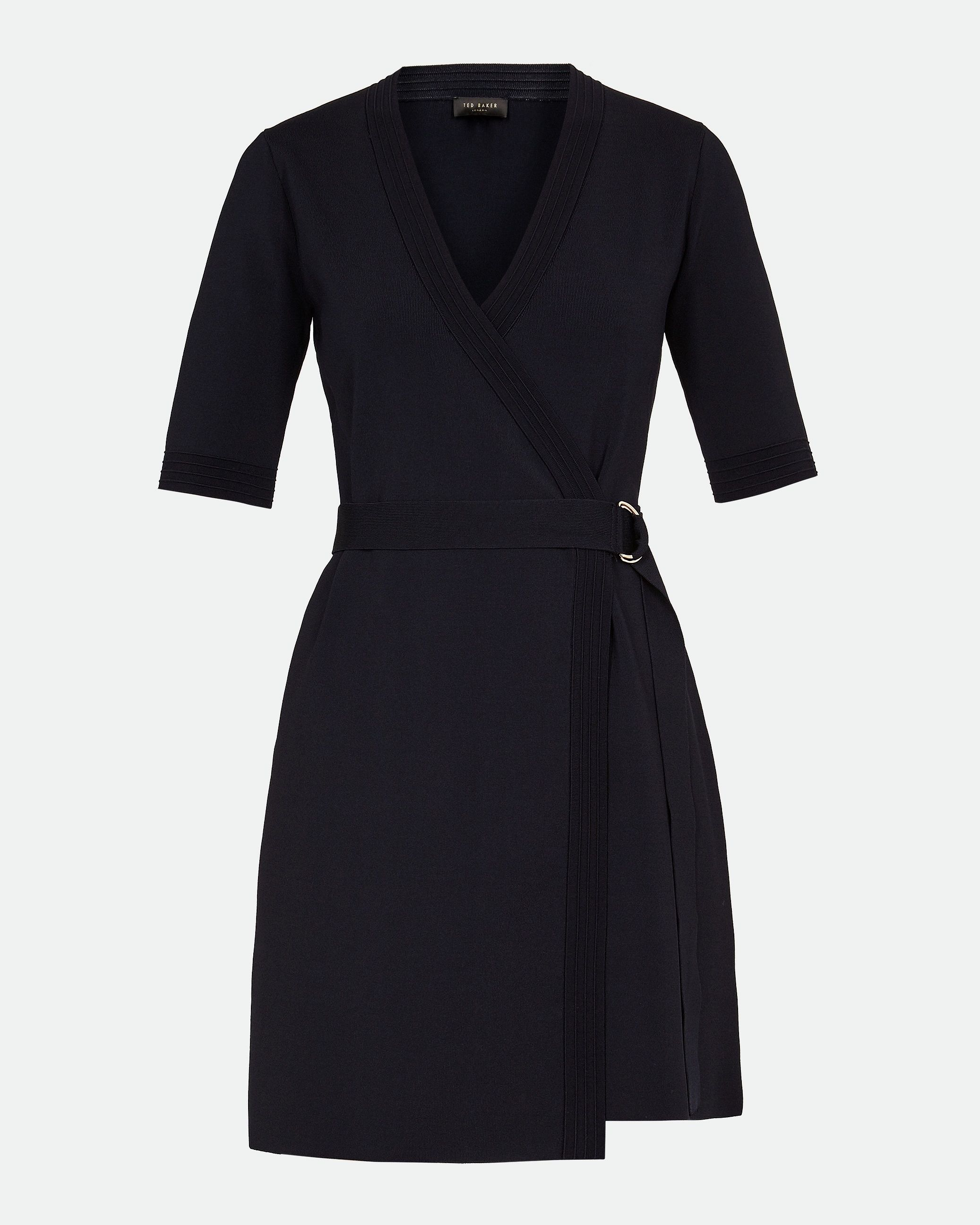 Ted Baker Stefo Knitted Wrap Dress, Navy