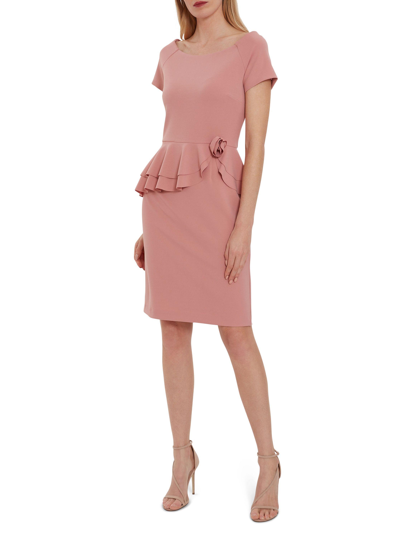 Darla Crepe Peplum Dress