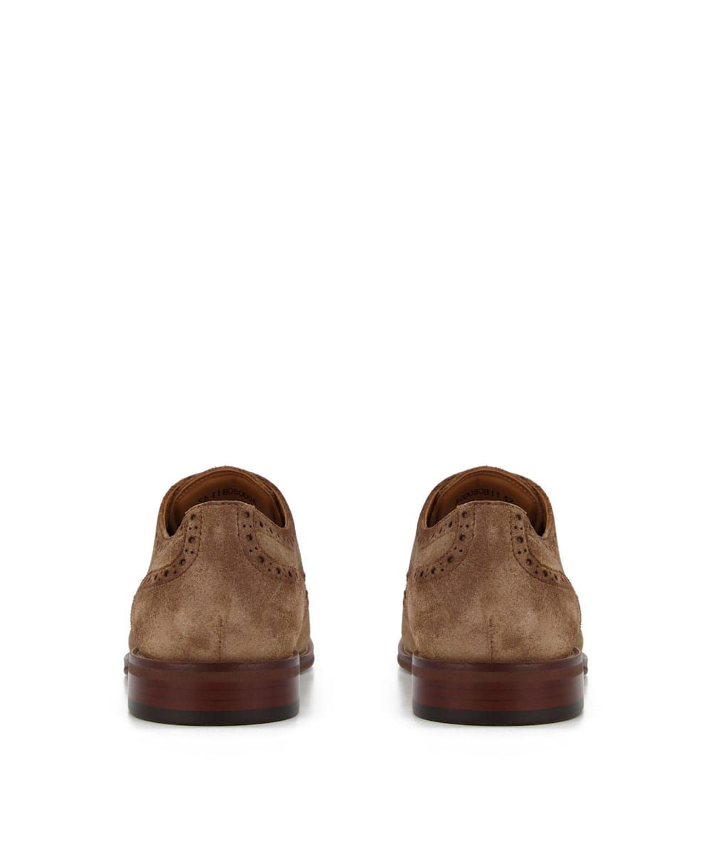 Dune Mens SULPHUR Washed Suede Brogues