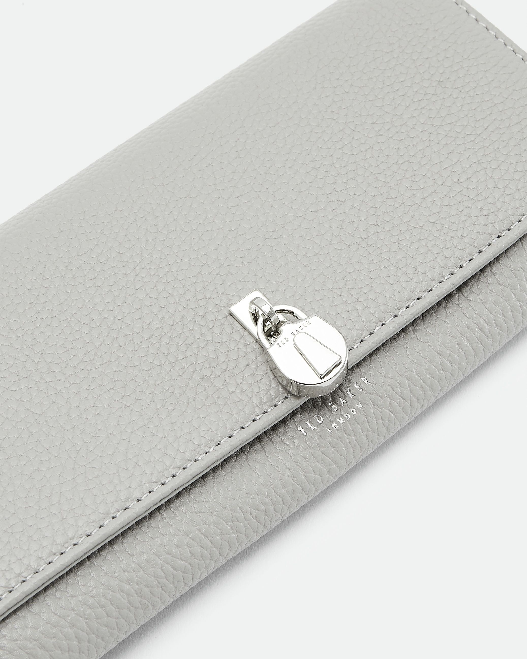 Ted Baker Sylivi Padlock Clasp Matinee Purse in Grey