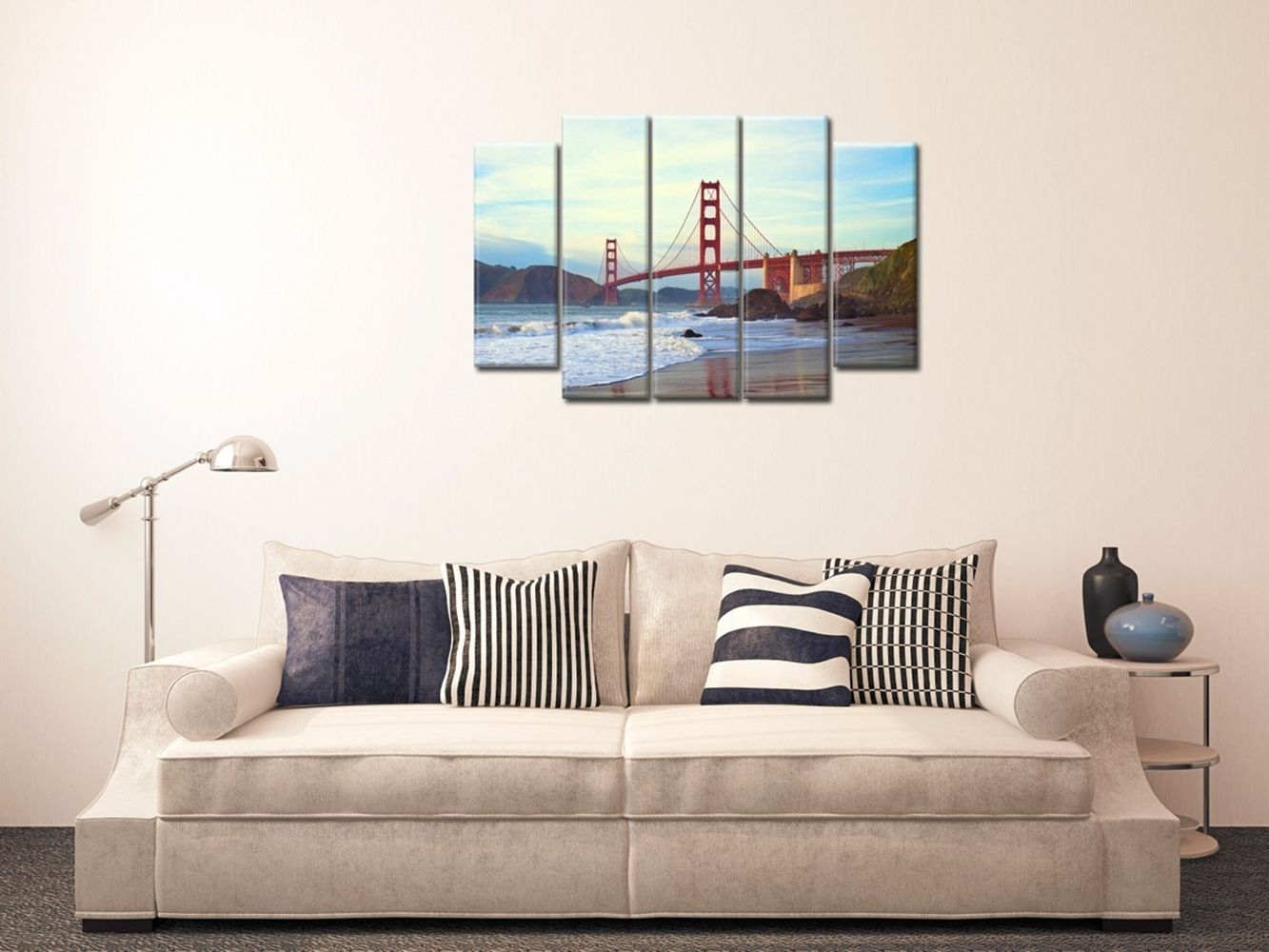Canvas Print - San Francisco Is Around The Corner Cm. 150x100 (5 Panels)