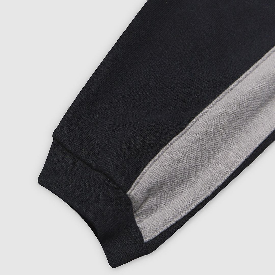 Panel black and grey joggers