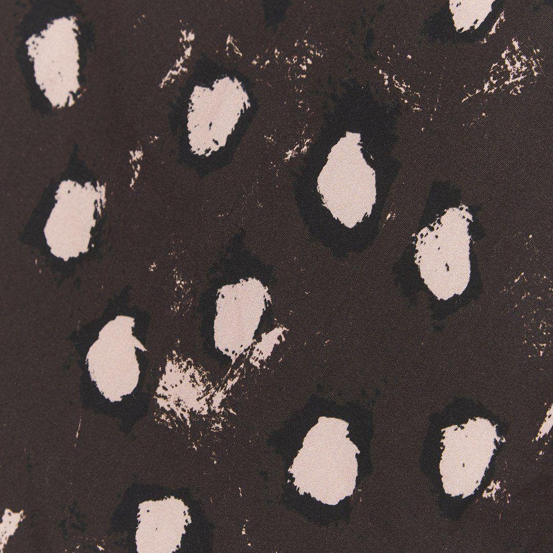 Brown painted dot zip bomber