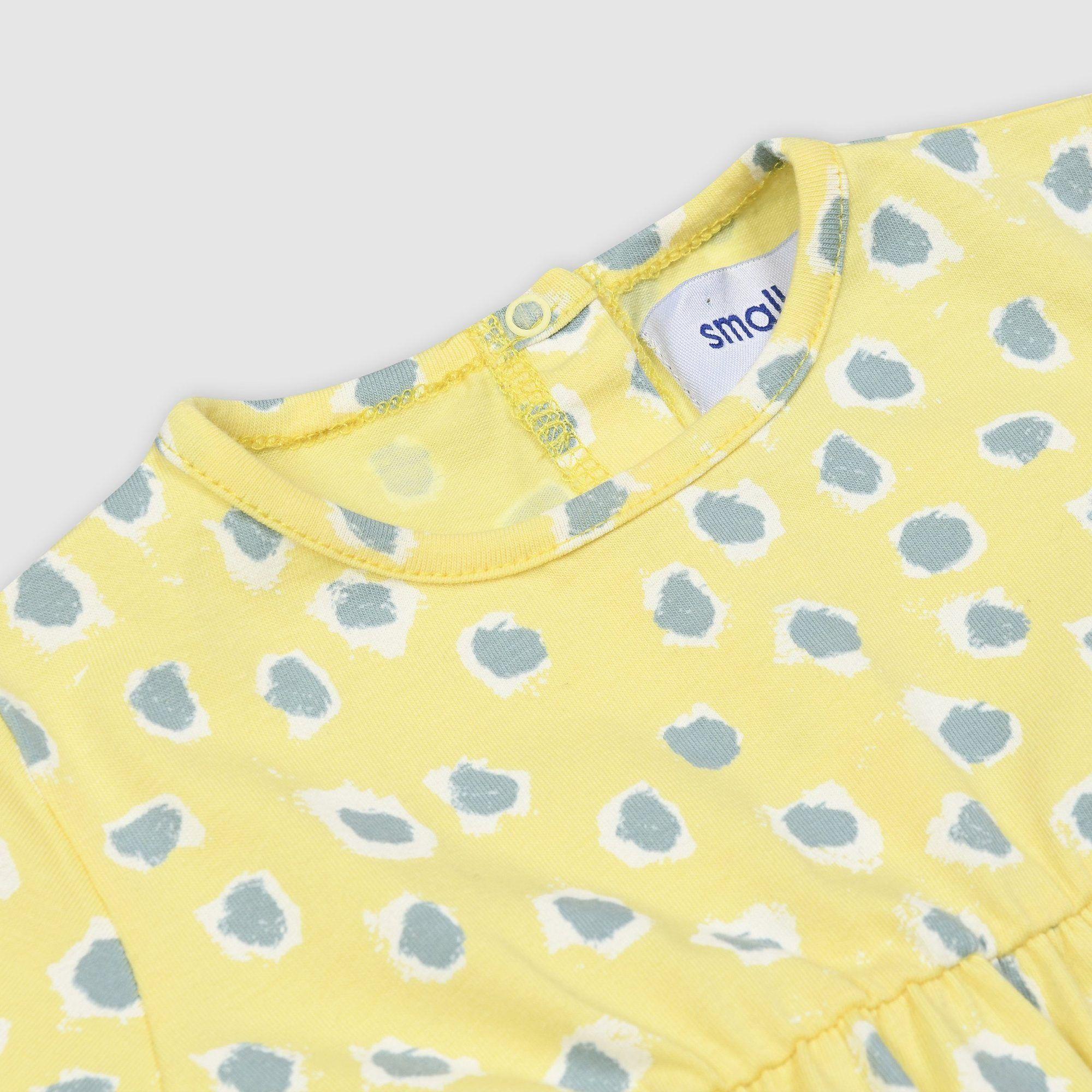 Painted Dot Short Sleeve Dress