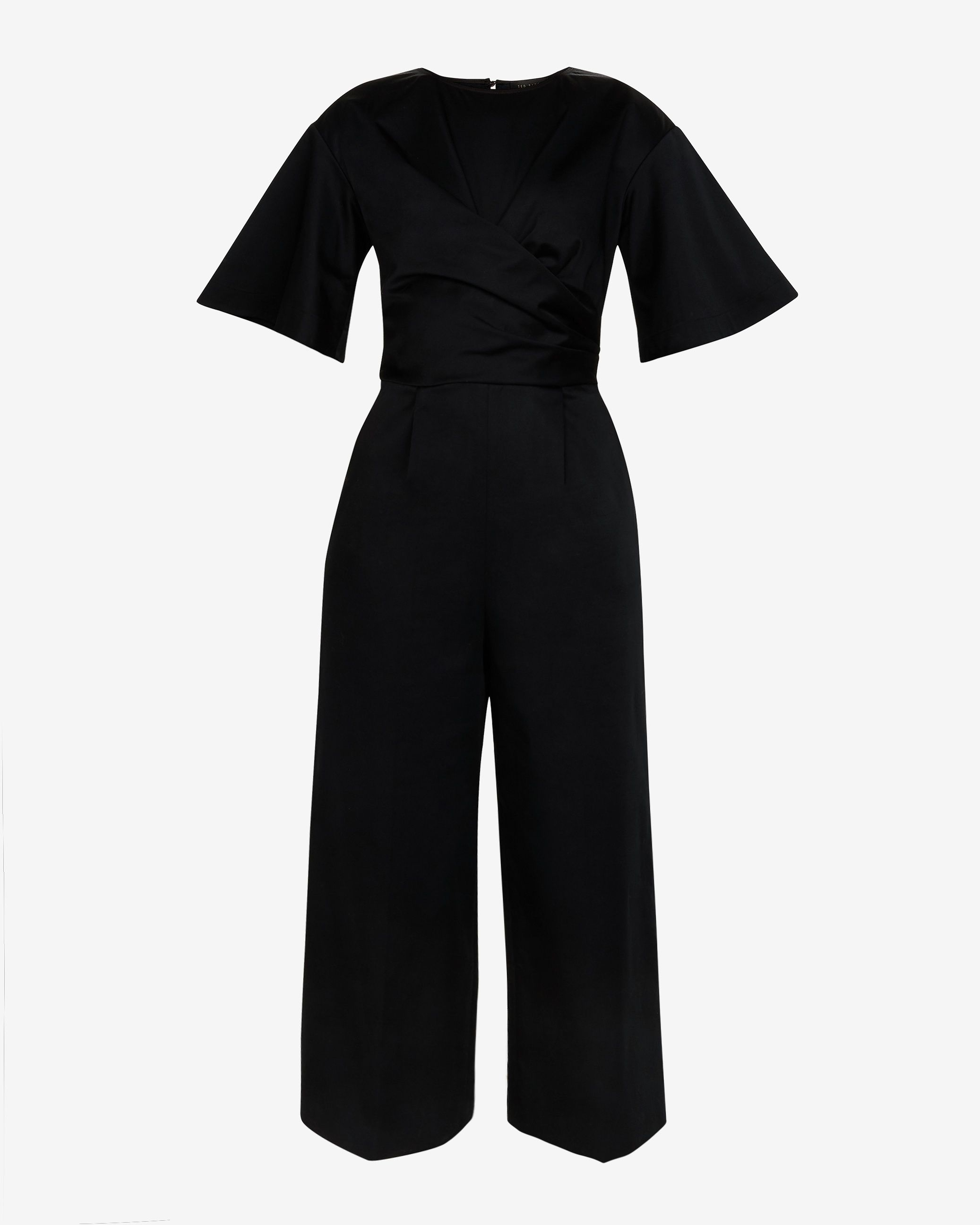 Ted Baker Taaraa Cotton Jumpsuit With Cross Detail in Black