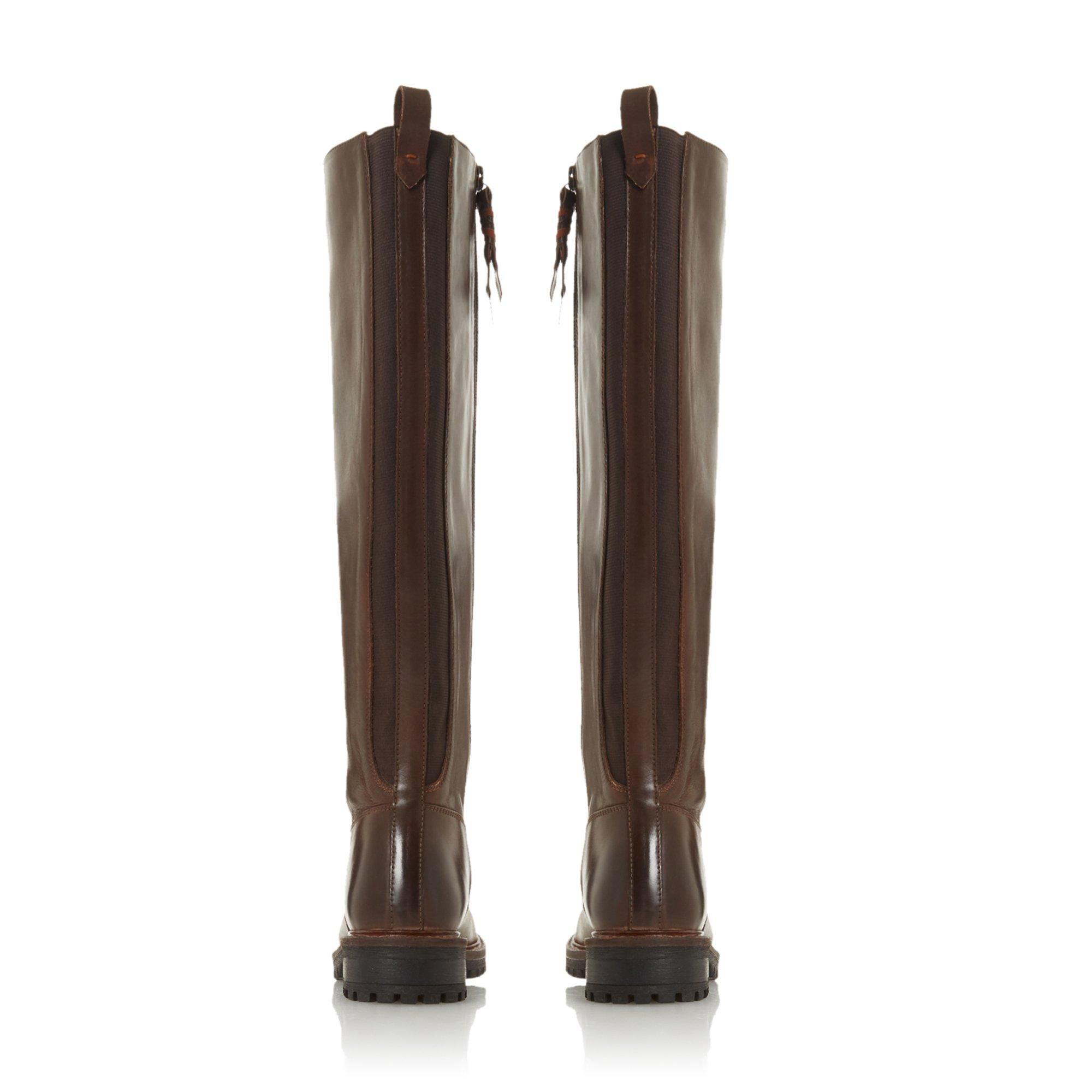 Bertie Ladies TALLOW Knee-High Cleated Sole Boots