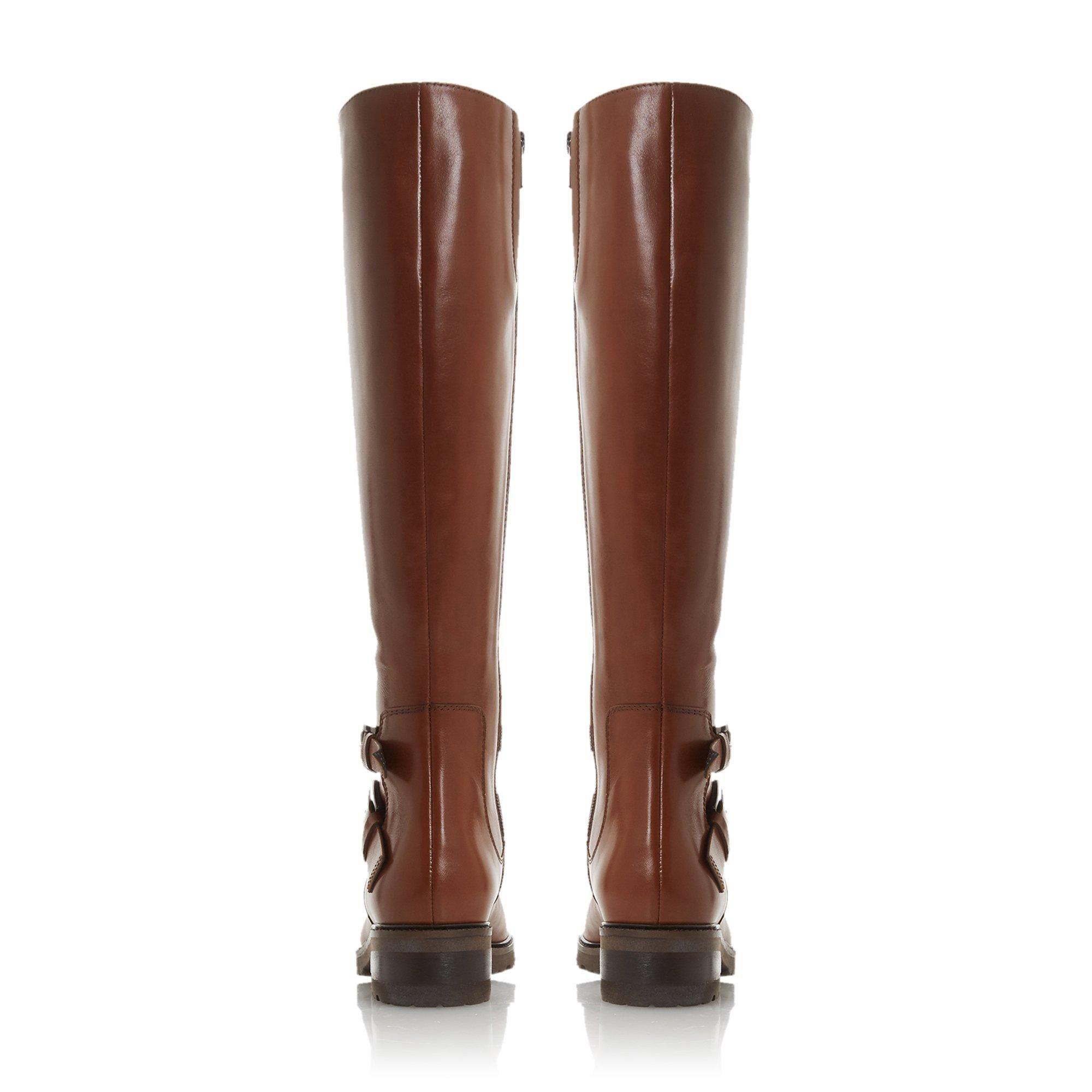 Dune Ladies TAMBIE Double Buckle Knee High Boots