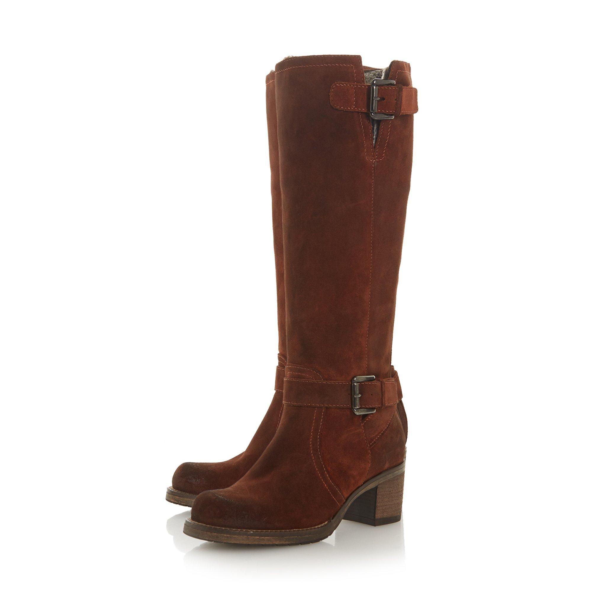 Dune Ladies TANSEY Block Heel Knee High Boots