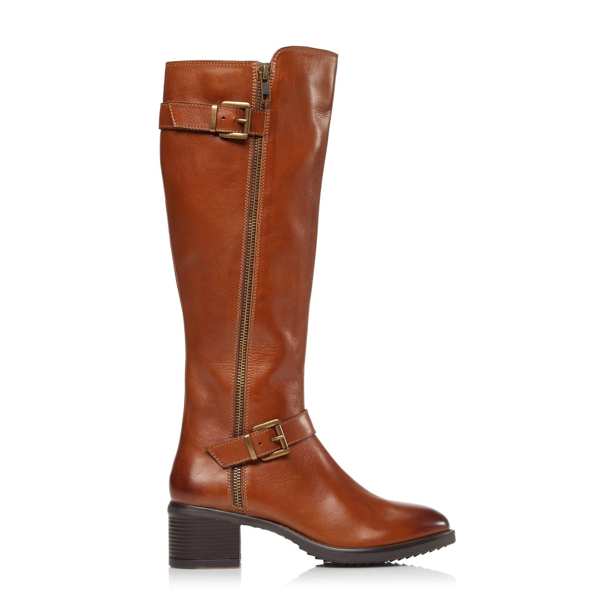 Dune Ladies TARROW XX Buckle Knee High Boots