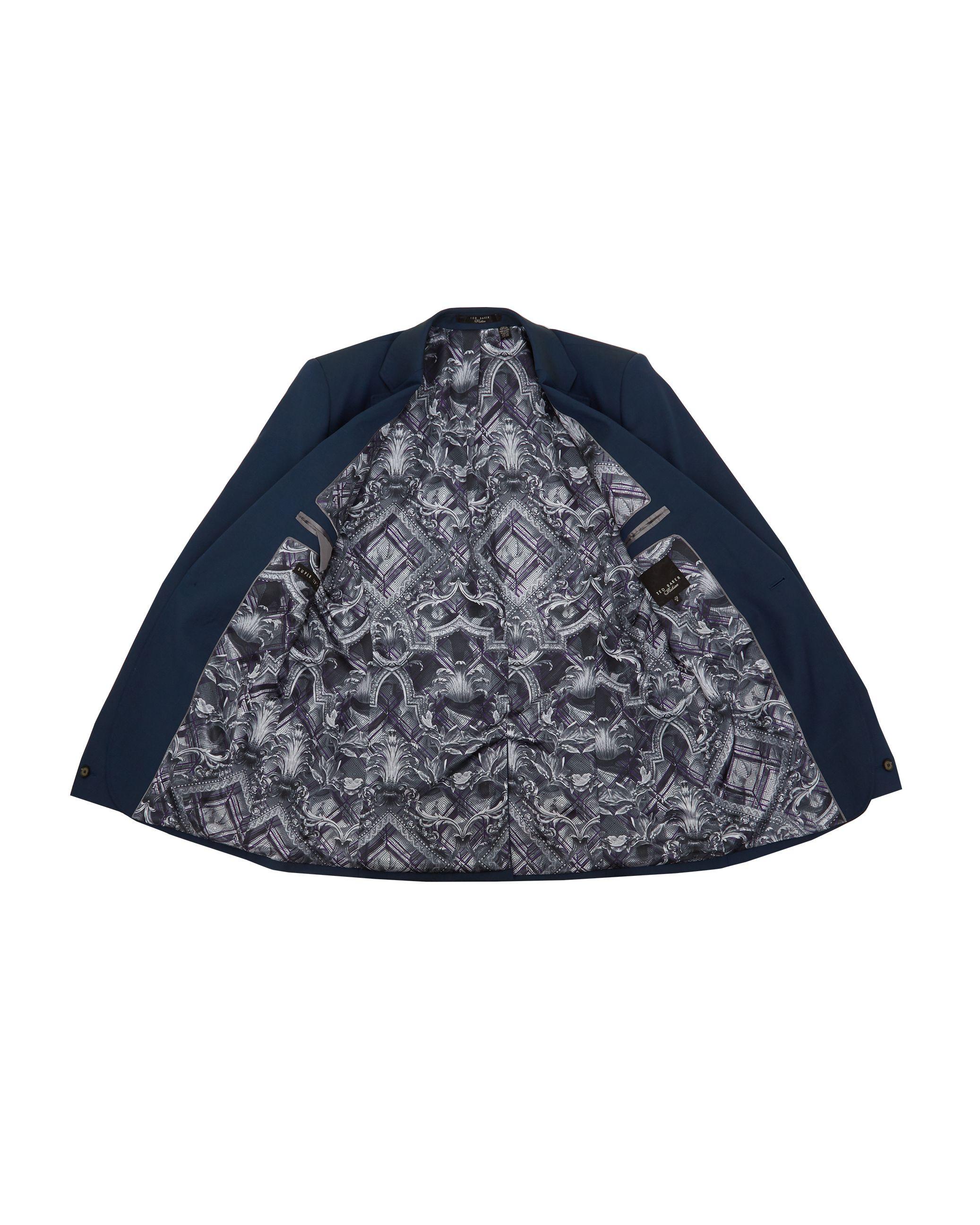 Ted Baker Sylvaj Pashion Plain Suit Jacket, Dark Blue