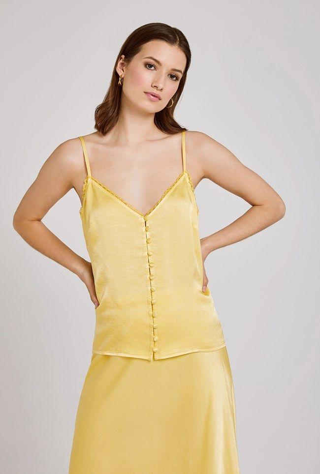 Iris Lemon Satin Cami