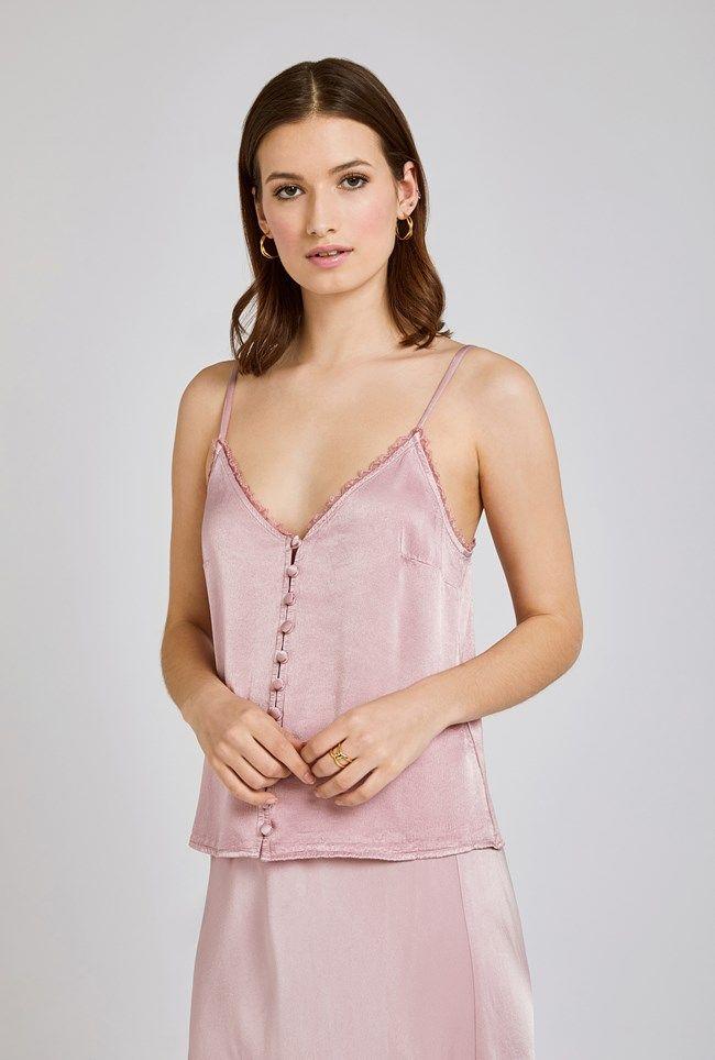 Iris Lilac Pink Satin Cami