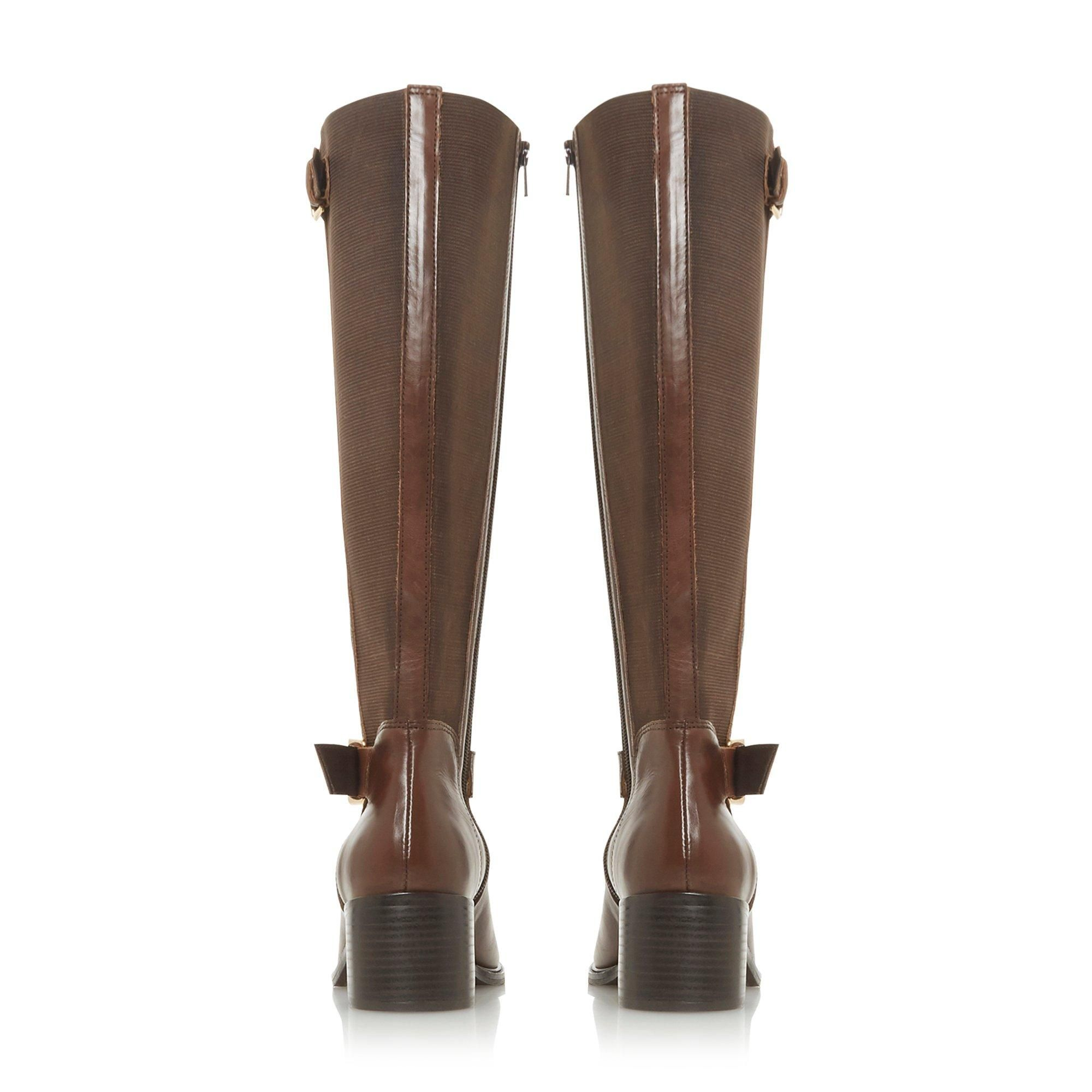 Dune Ladies TILDAA Block Heel Knee High Boots