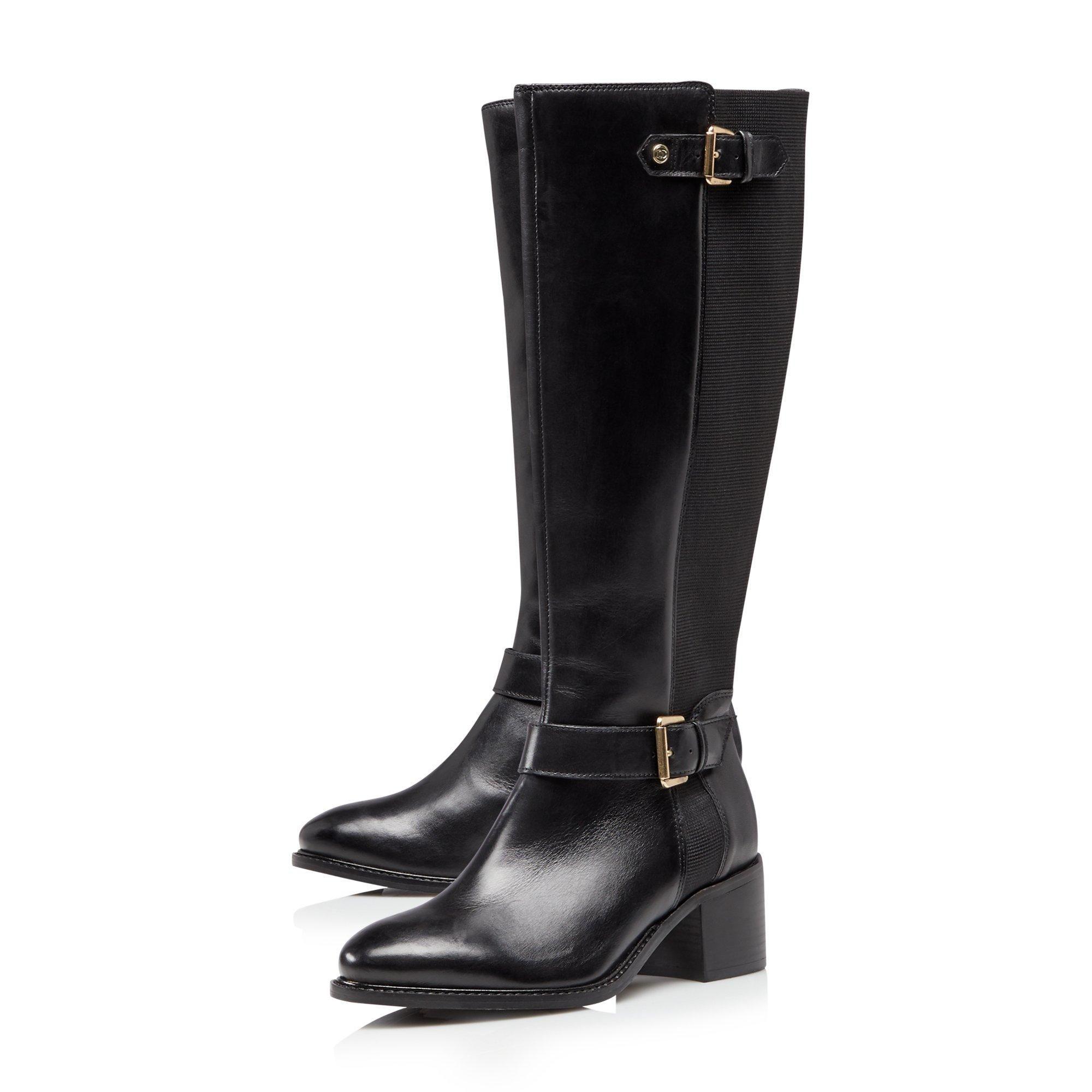 Dune Ladies TILDAS Buckle Strap Detail High Leg Boots