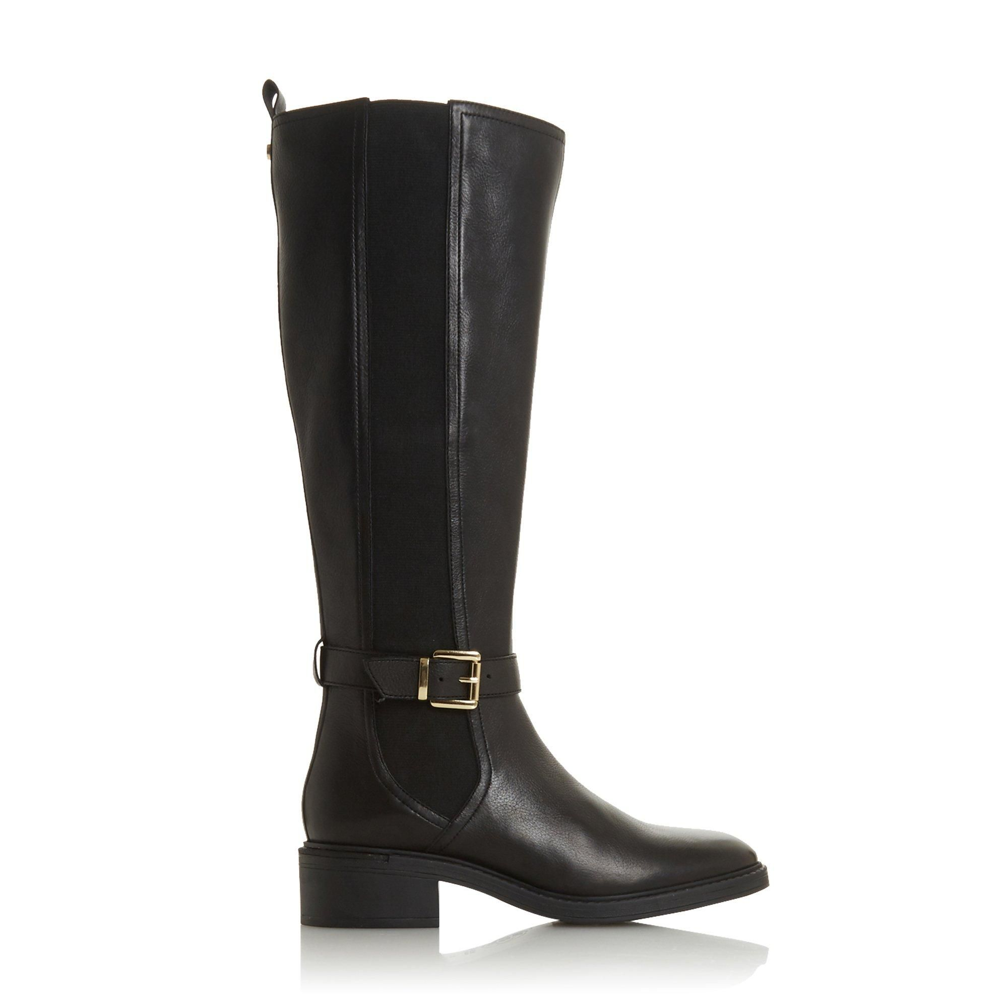 Dune Ladies TORENT T Buckled Knee High Boots