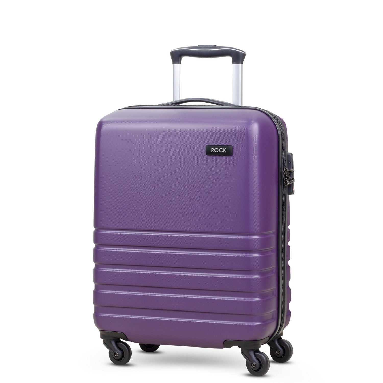 Byron 55cm Cabin Hardshell 4 Wheel Spinner Suitcase Purple