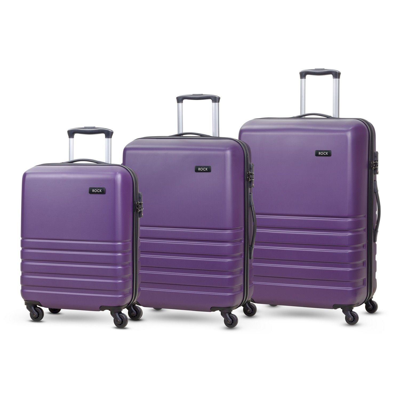 Byron Set of 3 Hardshell 4 Wheel Spinner Luggage Purple