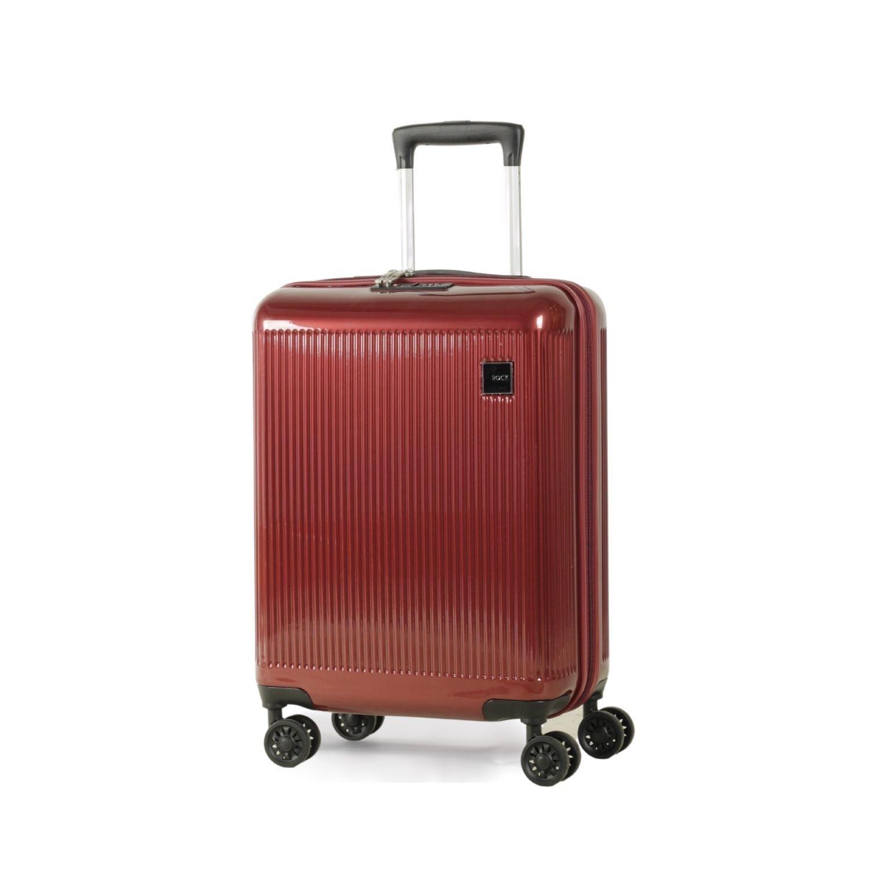 Windsor 55cm Cabin Hardshell 8 Wheel Spinner Suitcase Burgundy