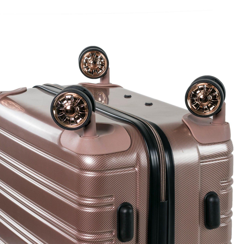 Rock Chicago 68cm Hardshell Medium Suitcase Rose Pink