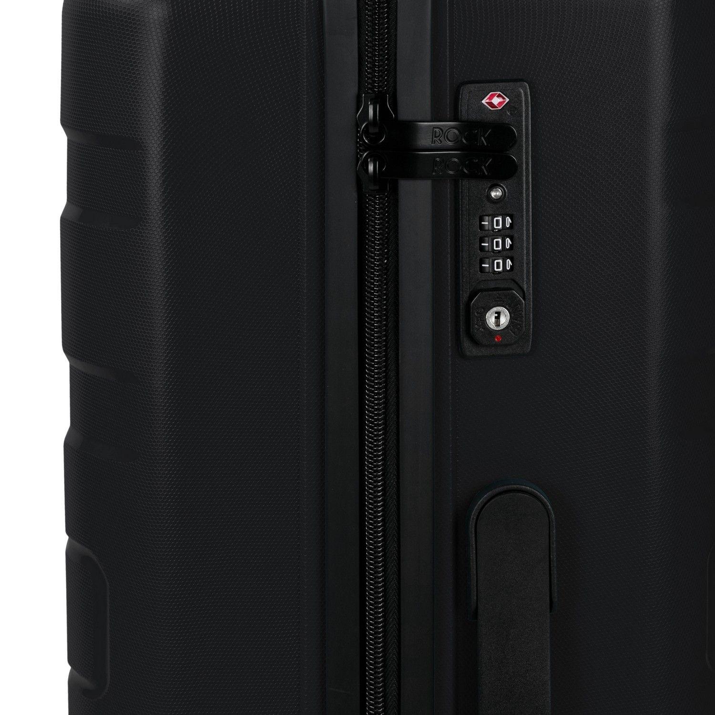 Rock Skylar 55cm Cabin Size Hardshell Suitcase Black