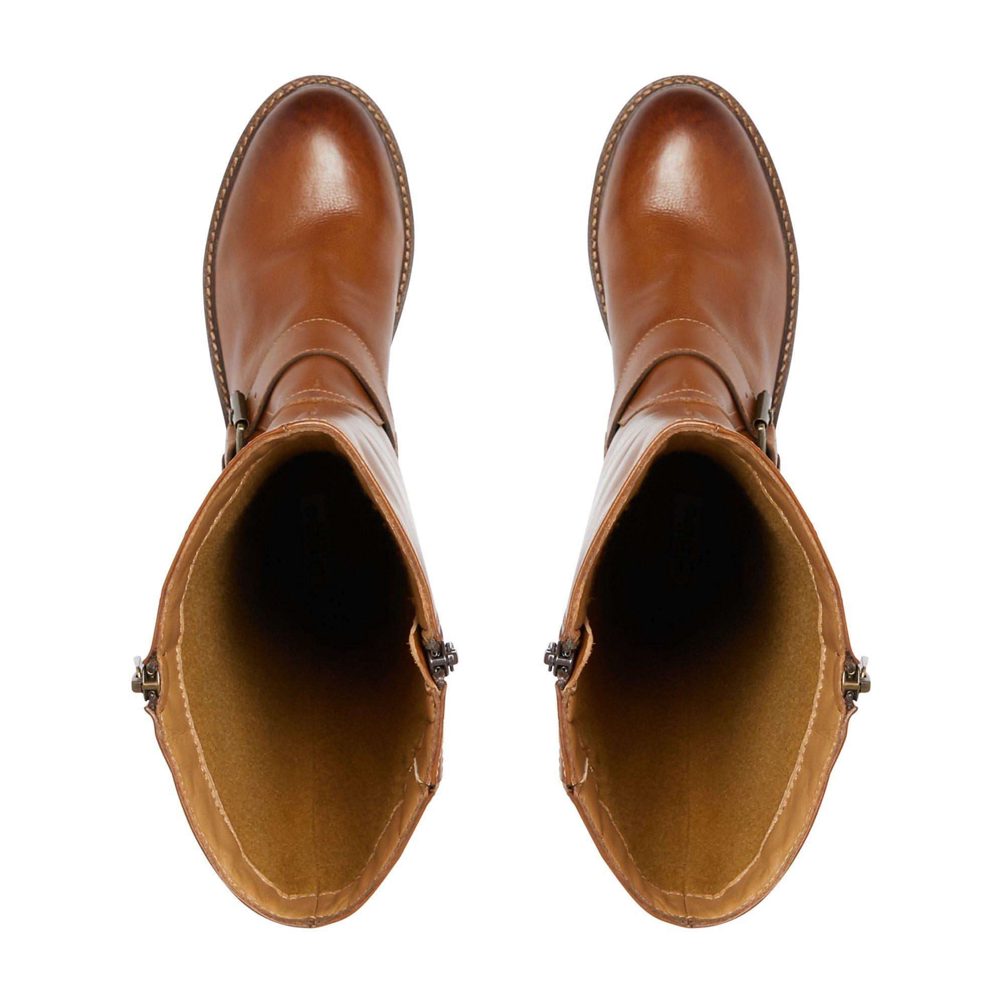 Dune Ladies TRAFALGAR T Buckle Strap Knee High Boots