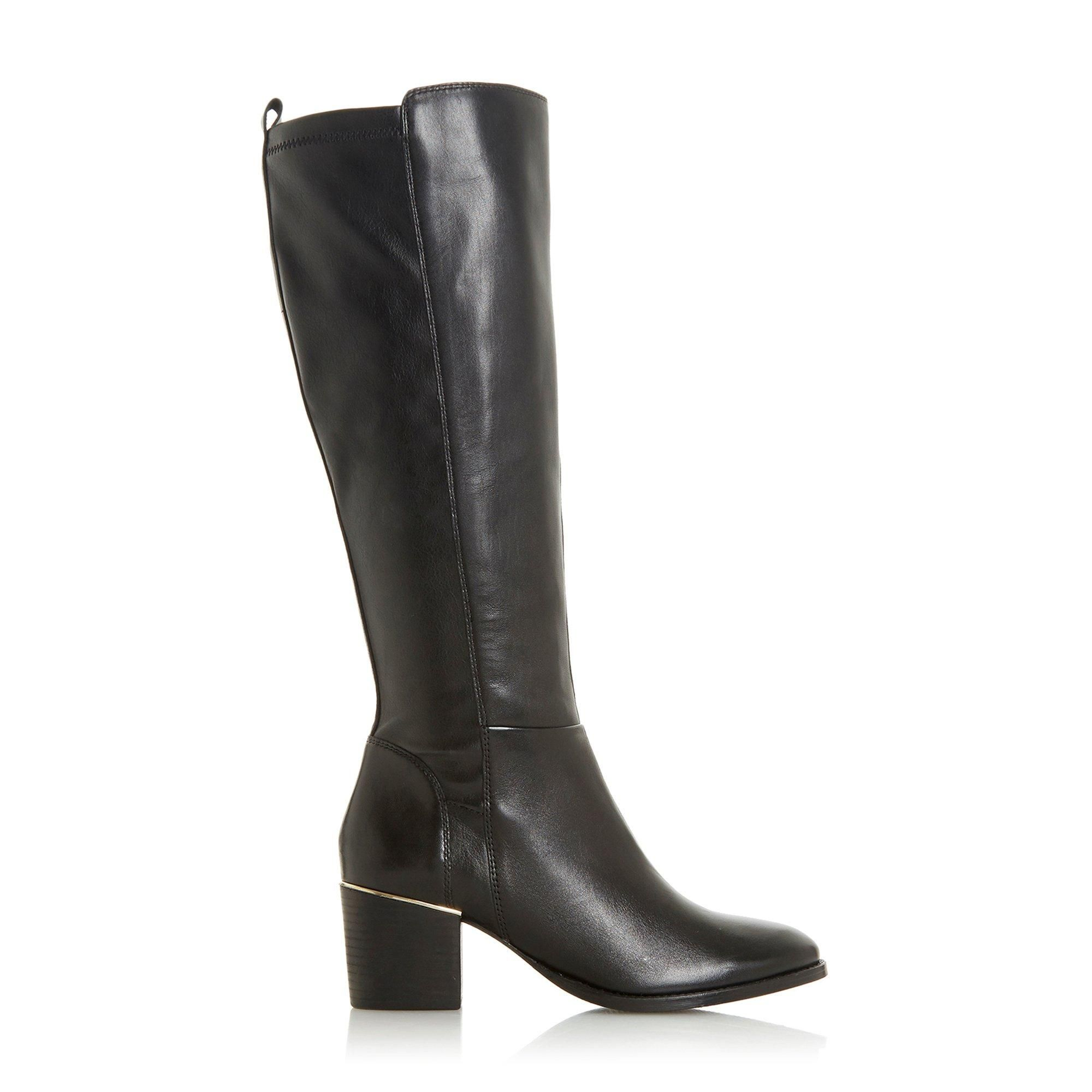 Dune Ladies TRINNEY Knee High Block Heel Boots