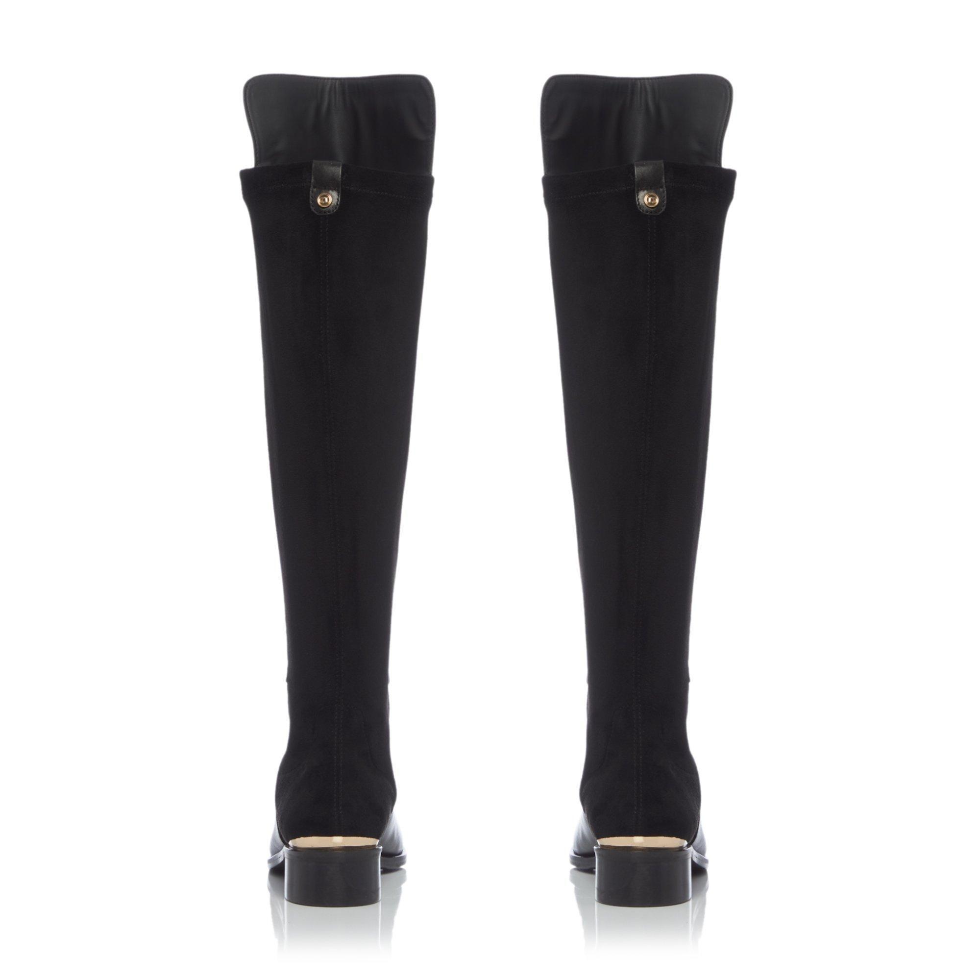 Dune Ladies TRISCHE LUXE XX Embossed Knee Boots
