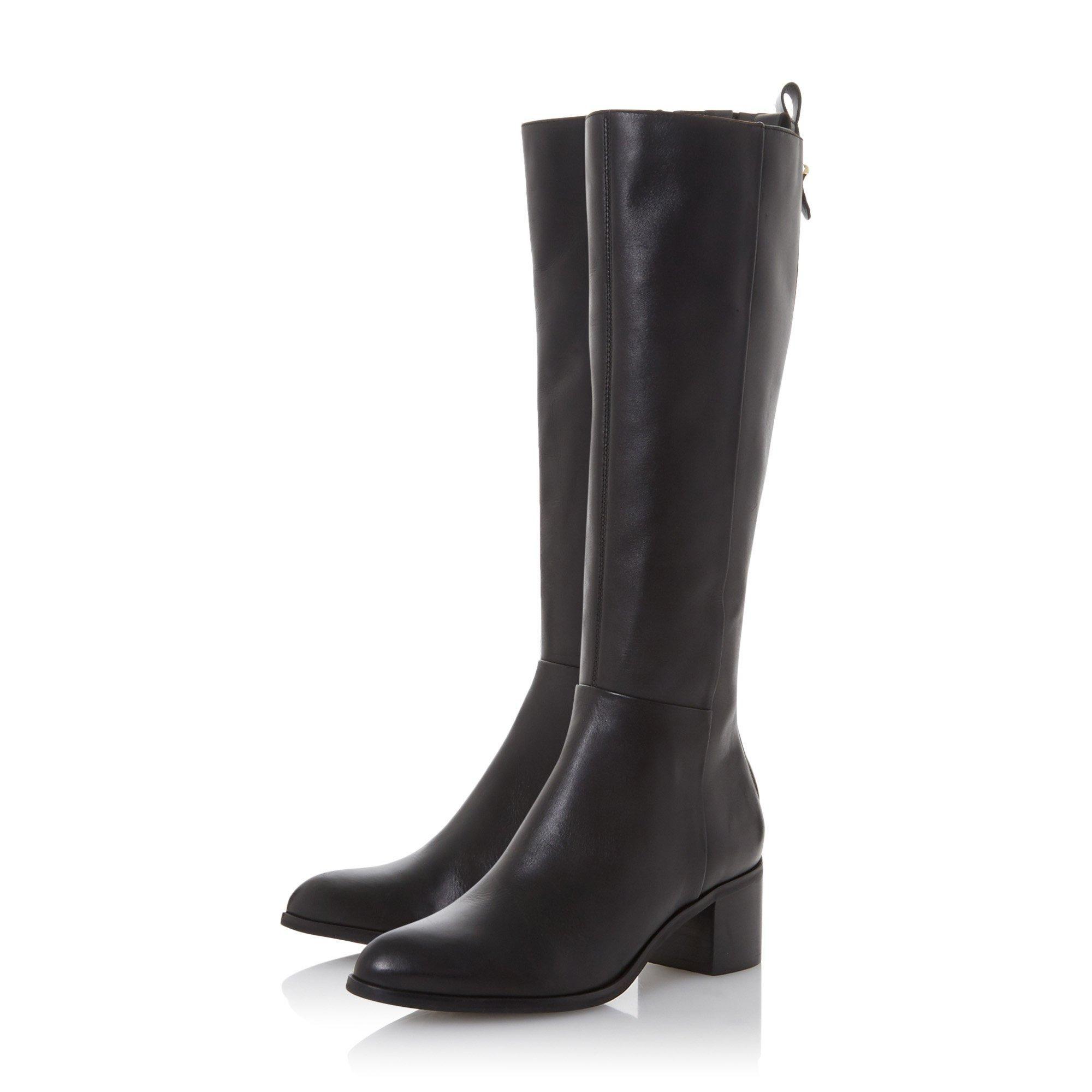 Dune Ladies TRUTH Block Heel Knee High Boots