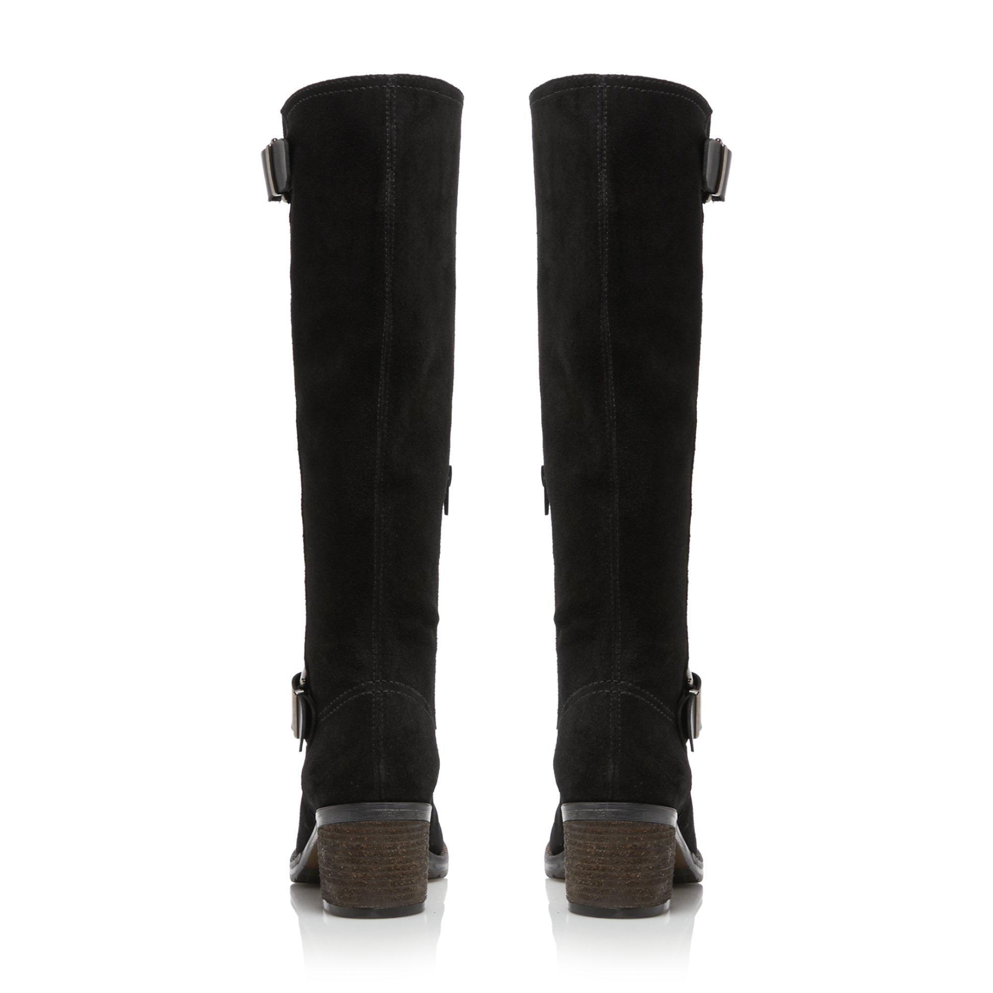 Dune Ladies TWIGGIE Double Buckle Knee High Boots